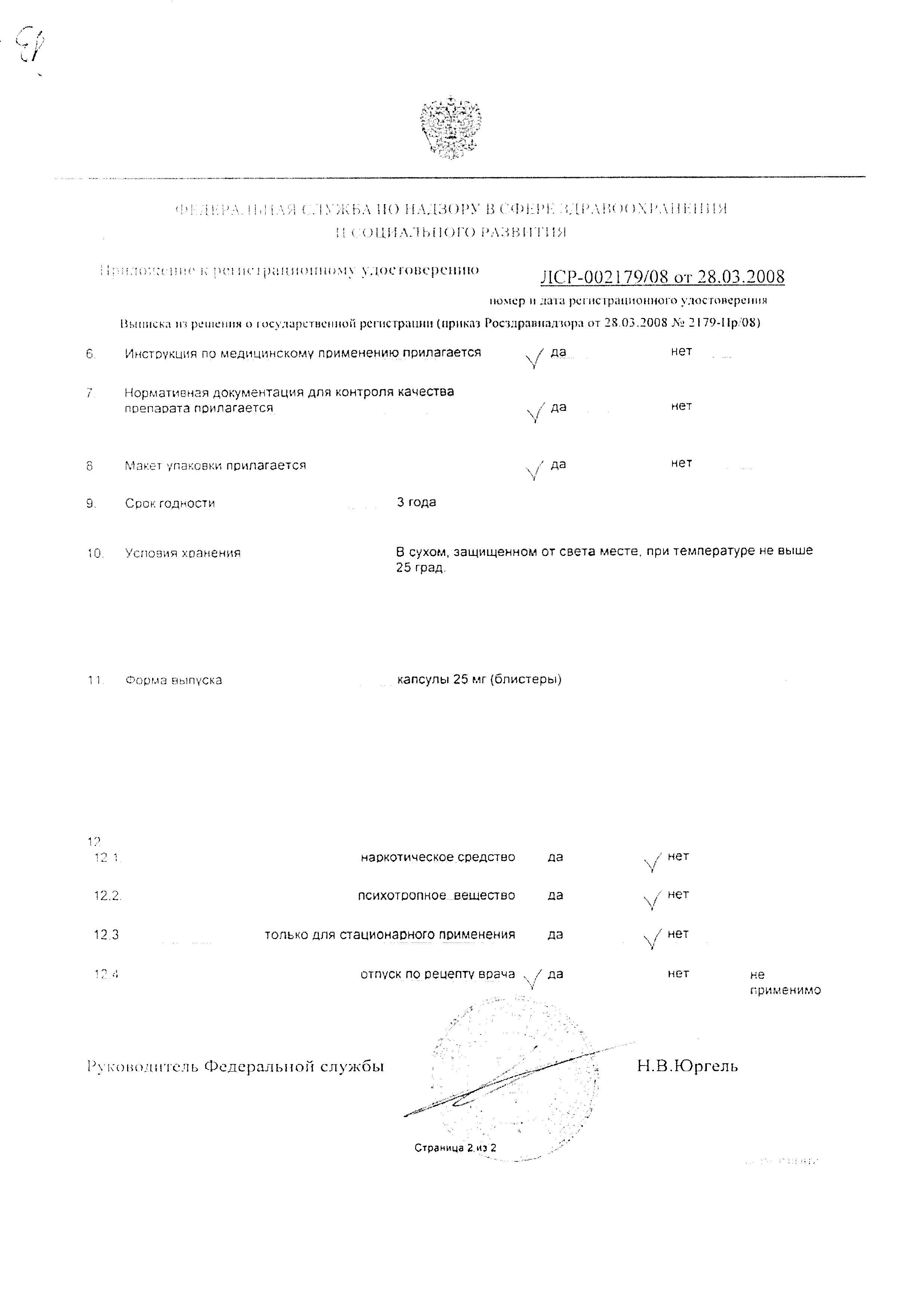 Фурамаг сертификат