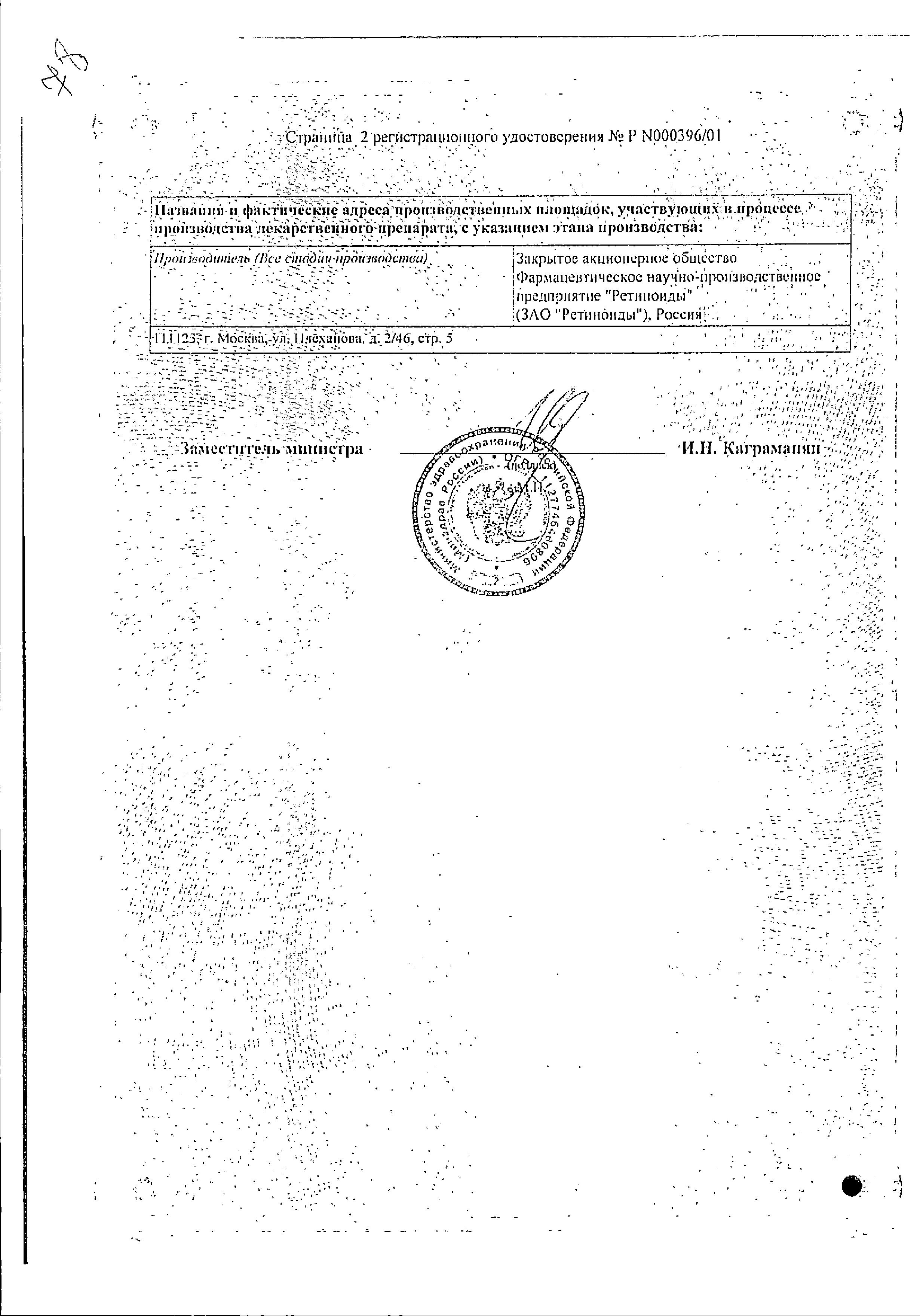 Нафтадерм сертификат