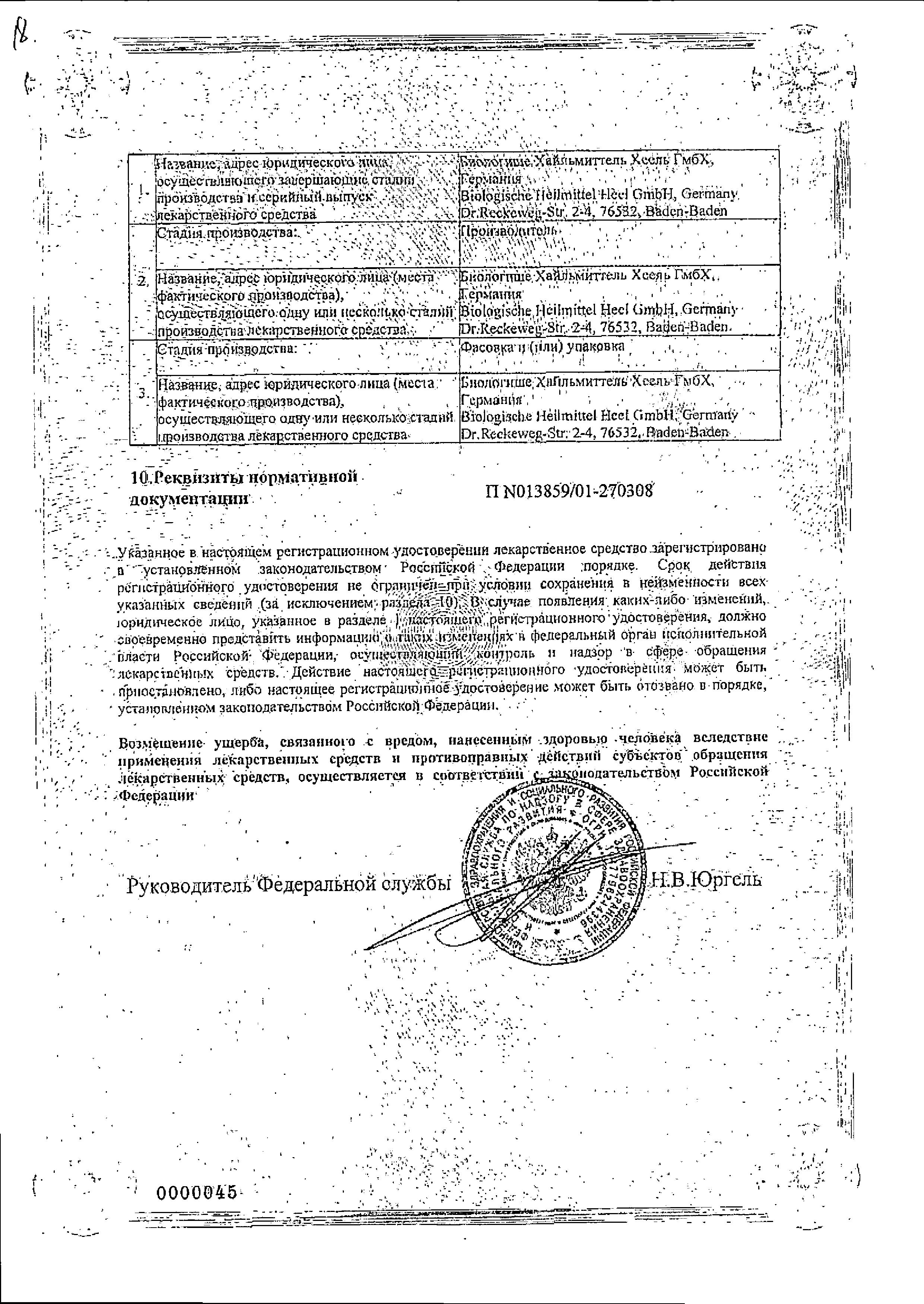 Ангин-Хель СД сертификат