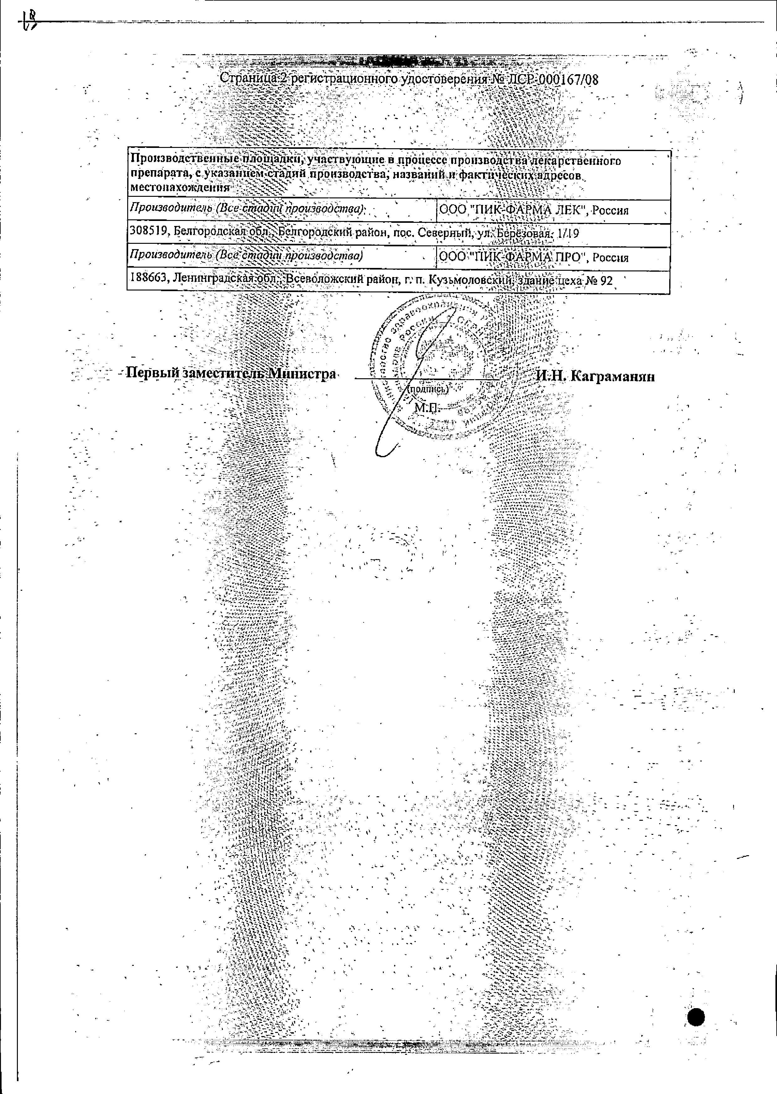 Карницетин сертификат