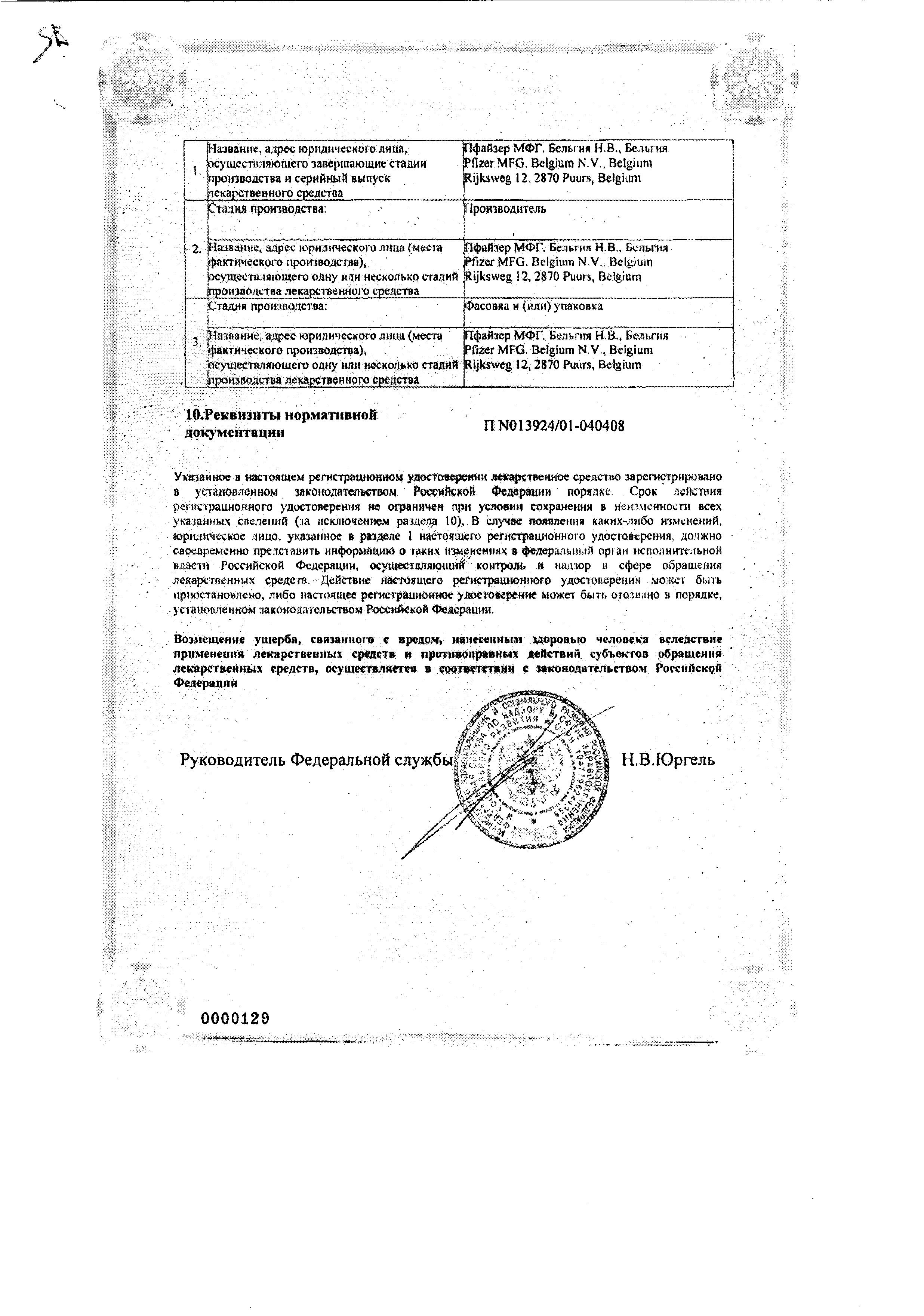 Ксалаком сертификат