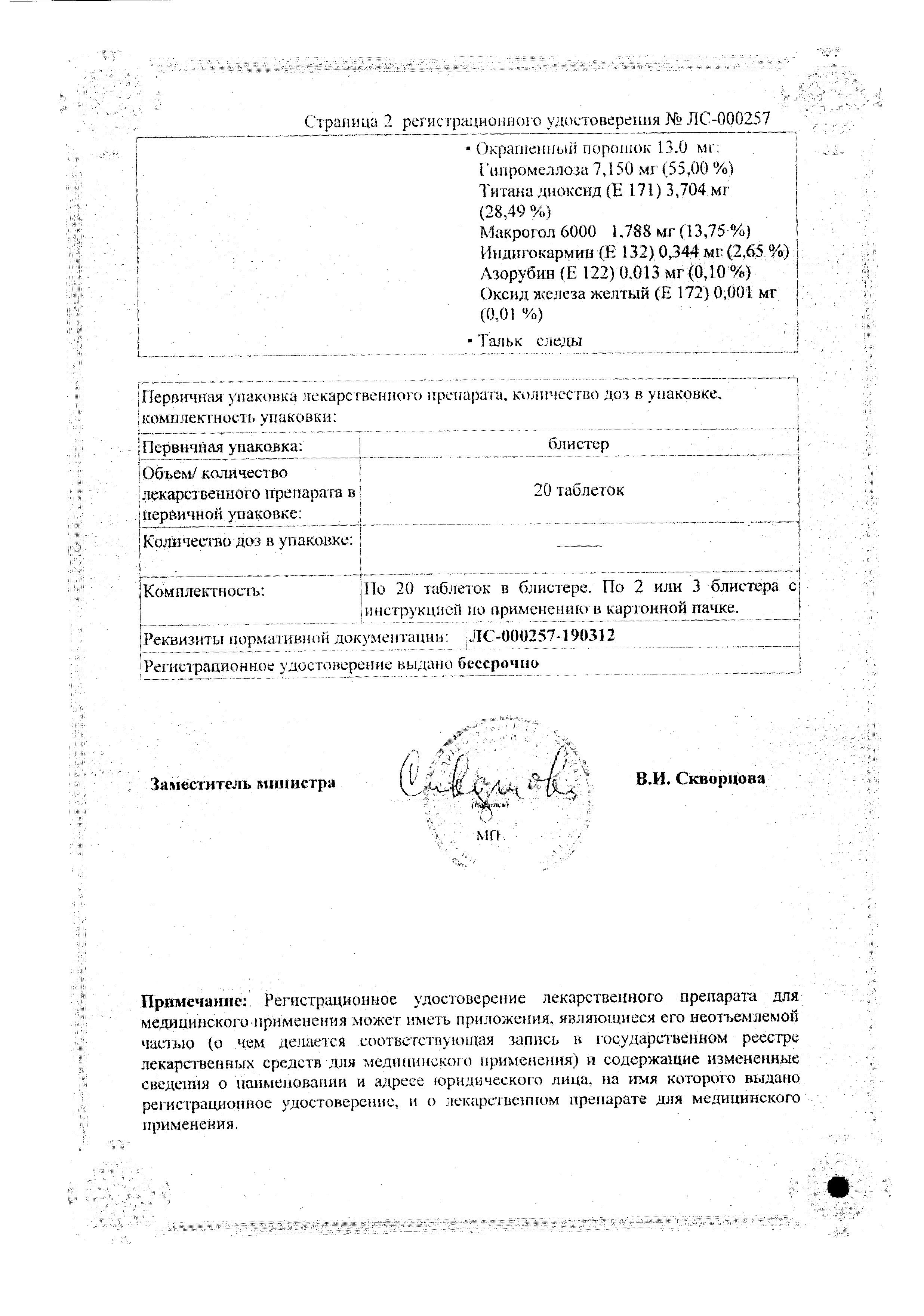 Симпатил сертификат