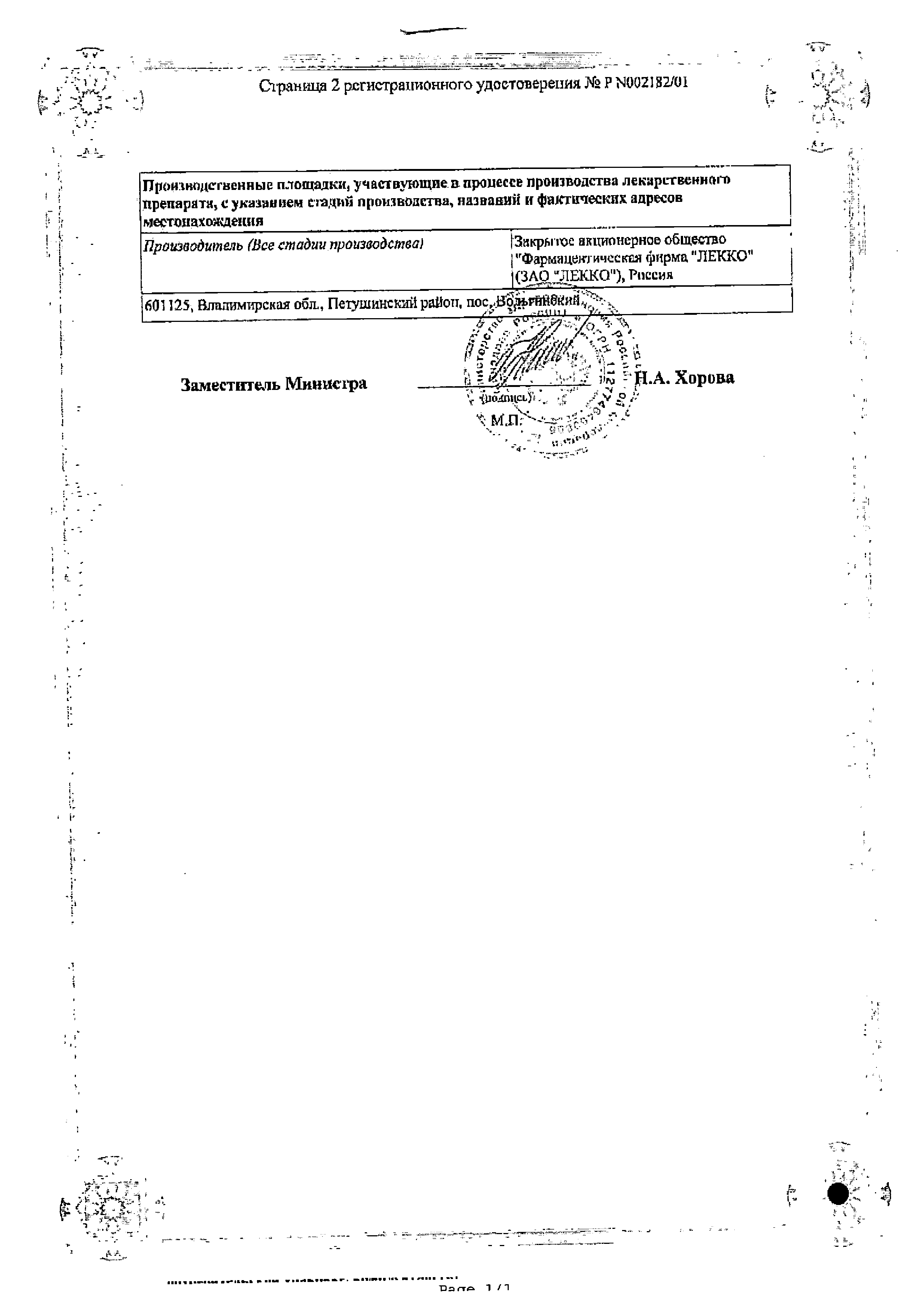 Риностоп сертификат