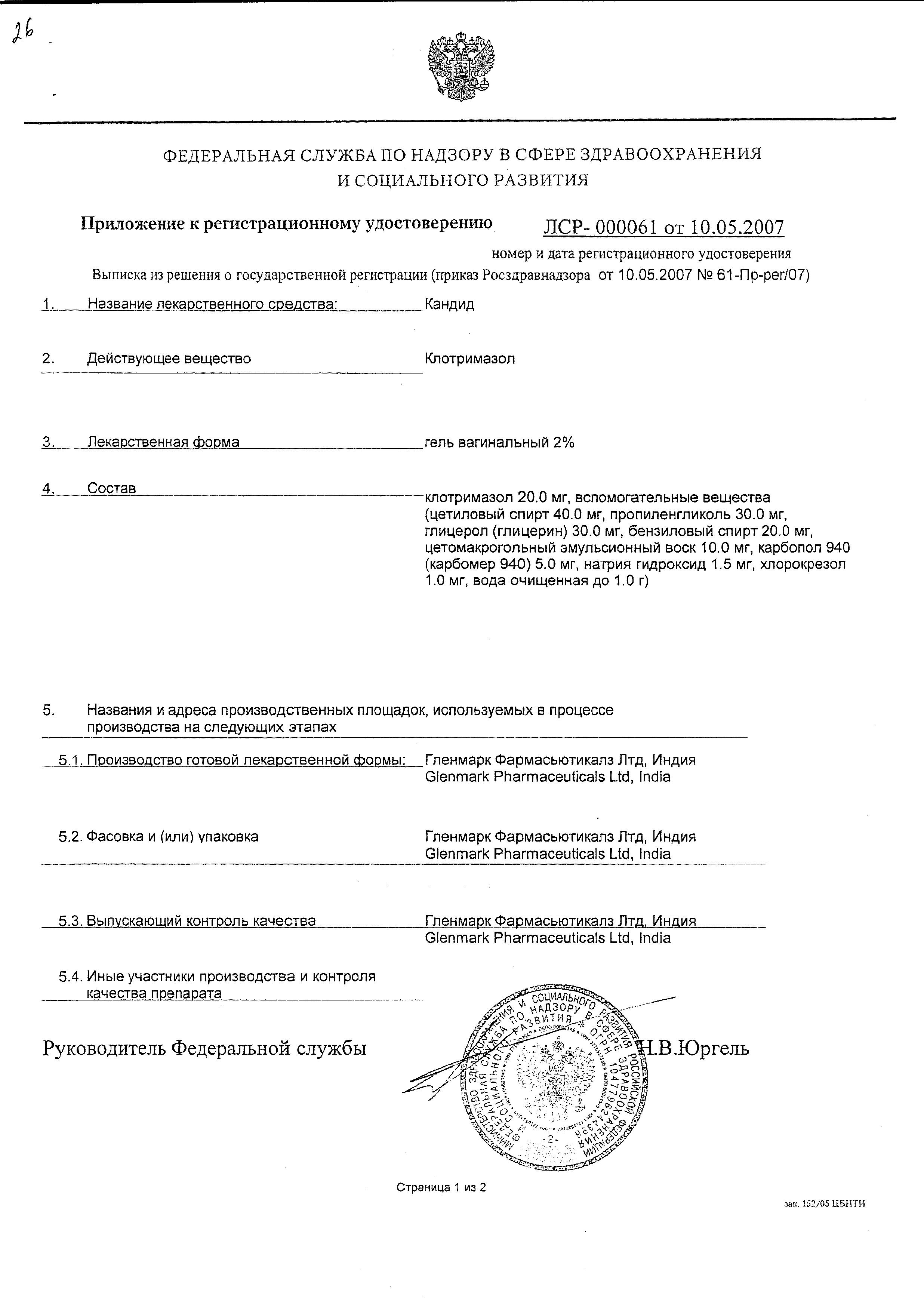 Кандид сертификат