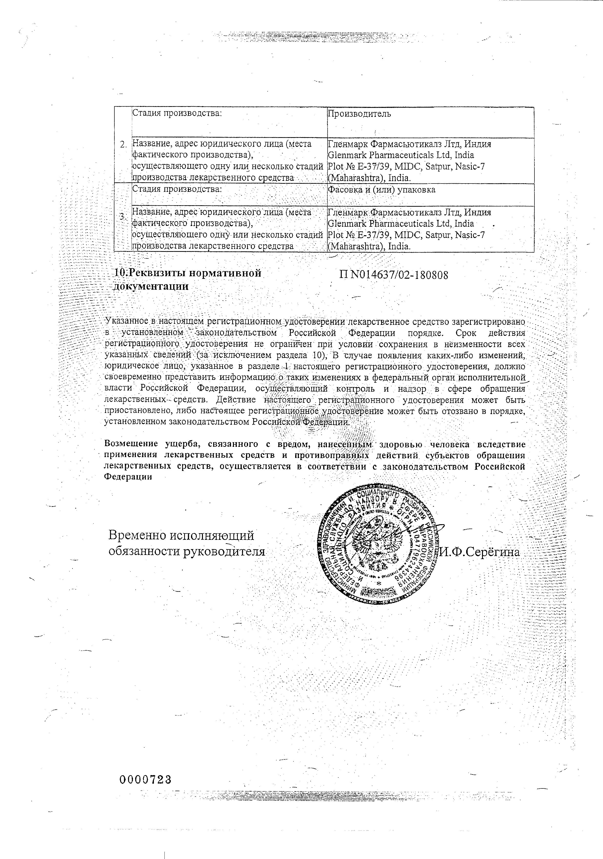 Кандид для полости рта сертификат