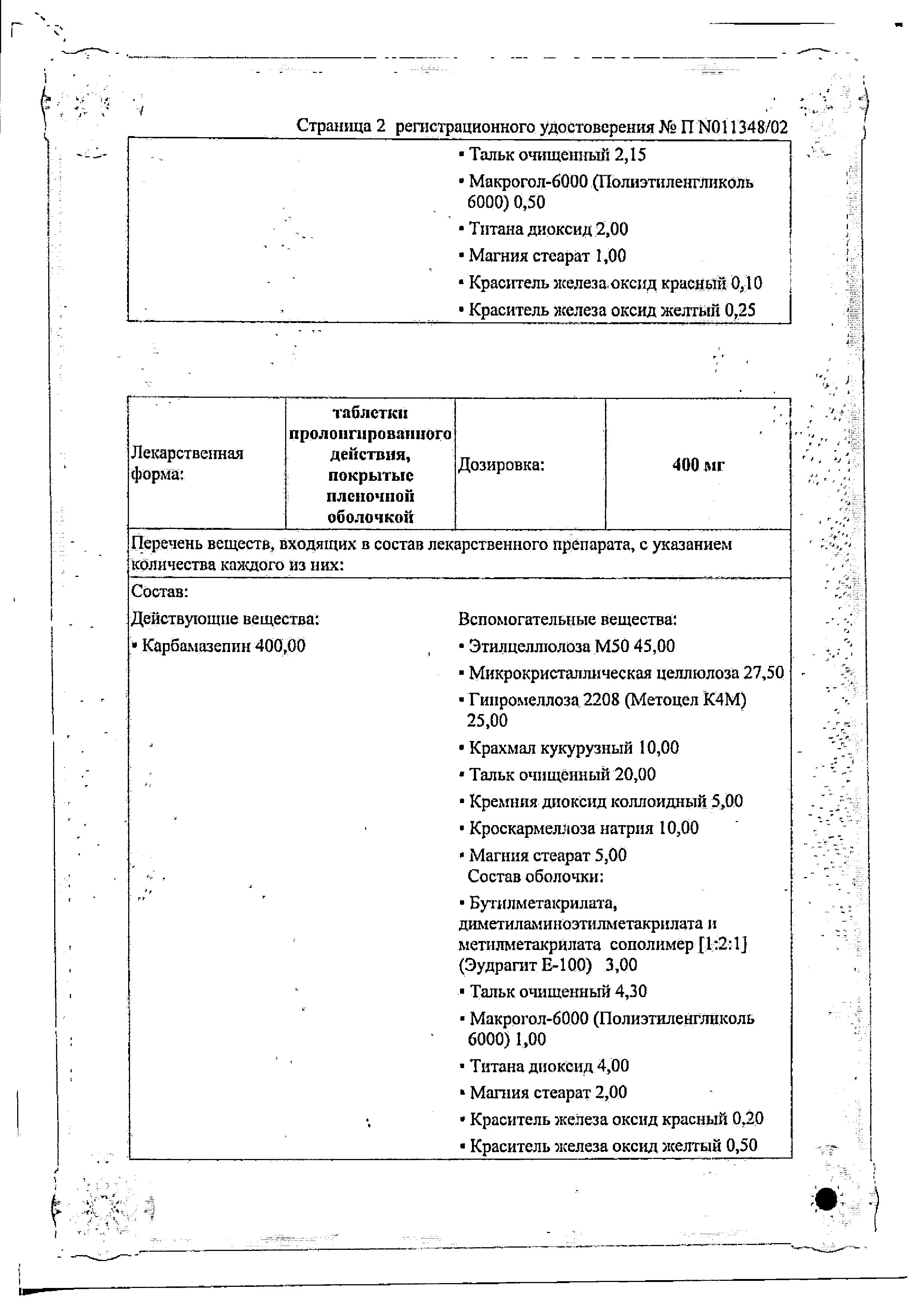 Зептол сертификат
