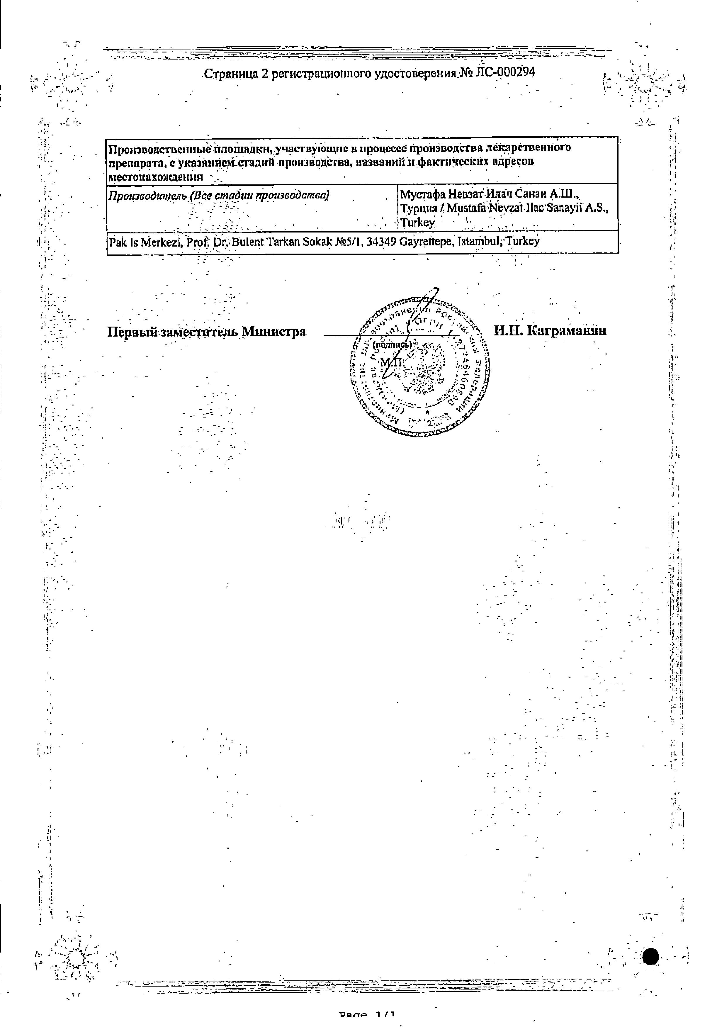 Тексаред сертификат