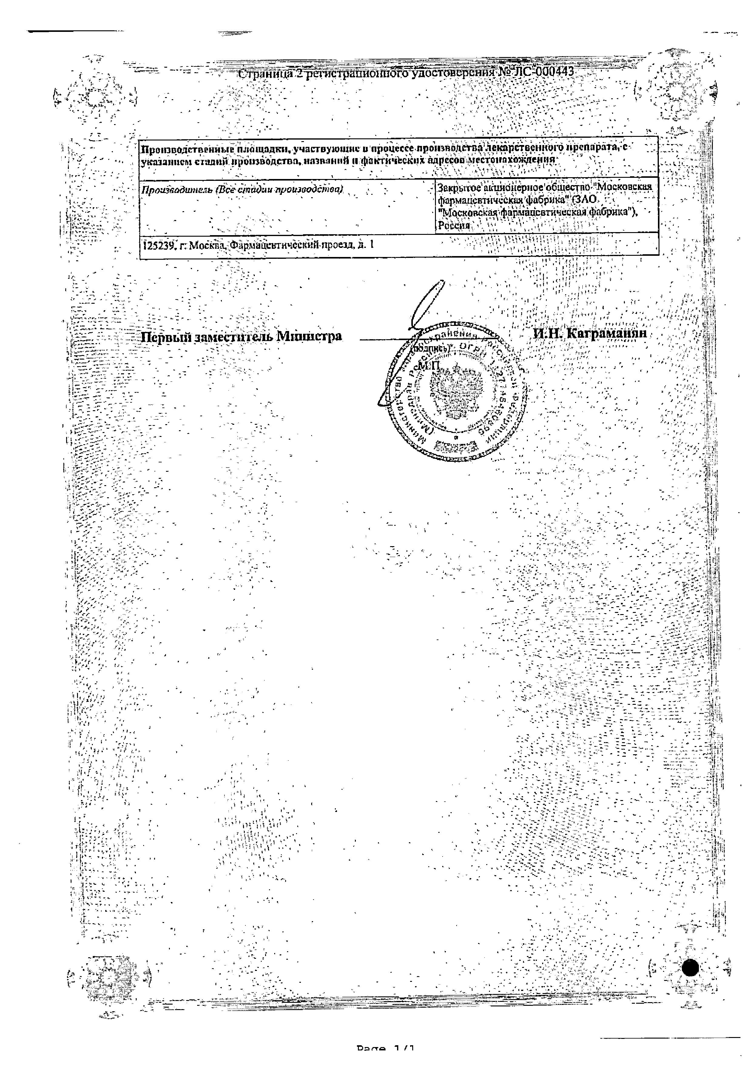 Лавакол сертификат