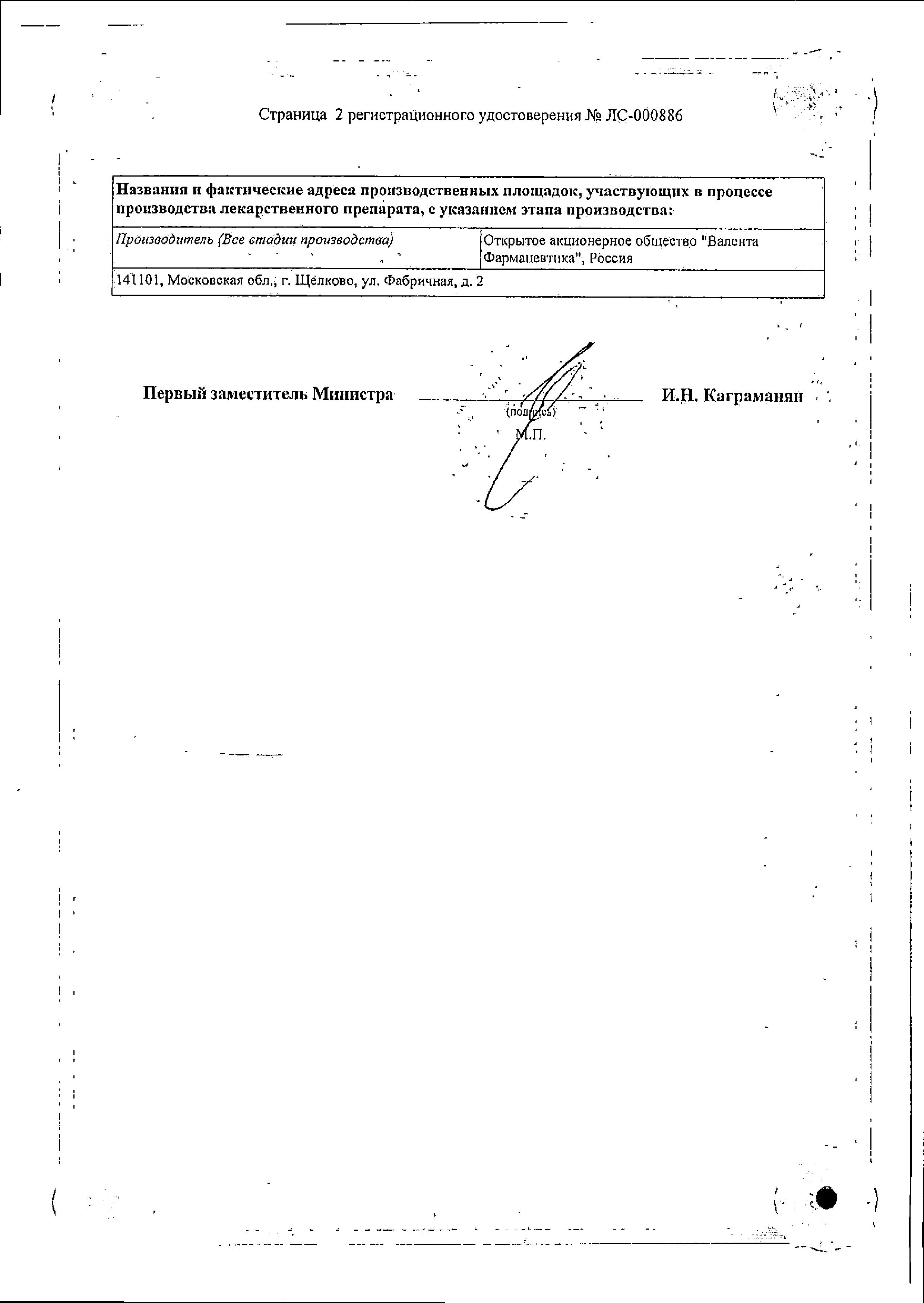 Зорекс сертификат