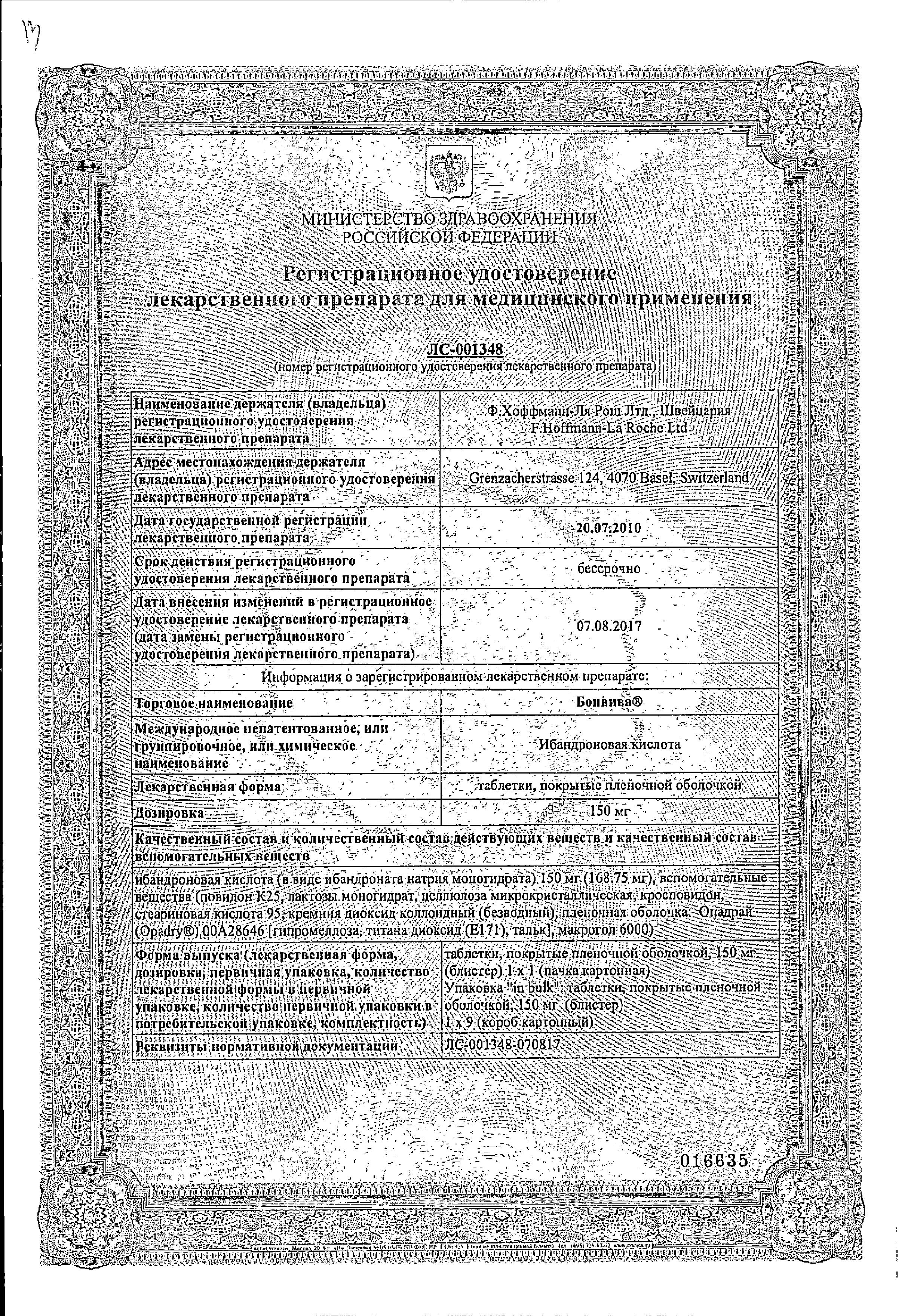 Бонвива сертификат
