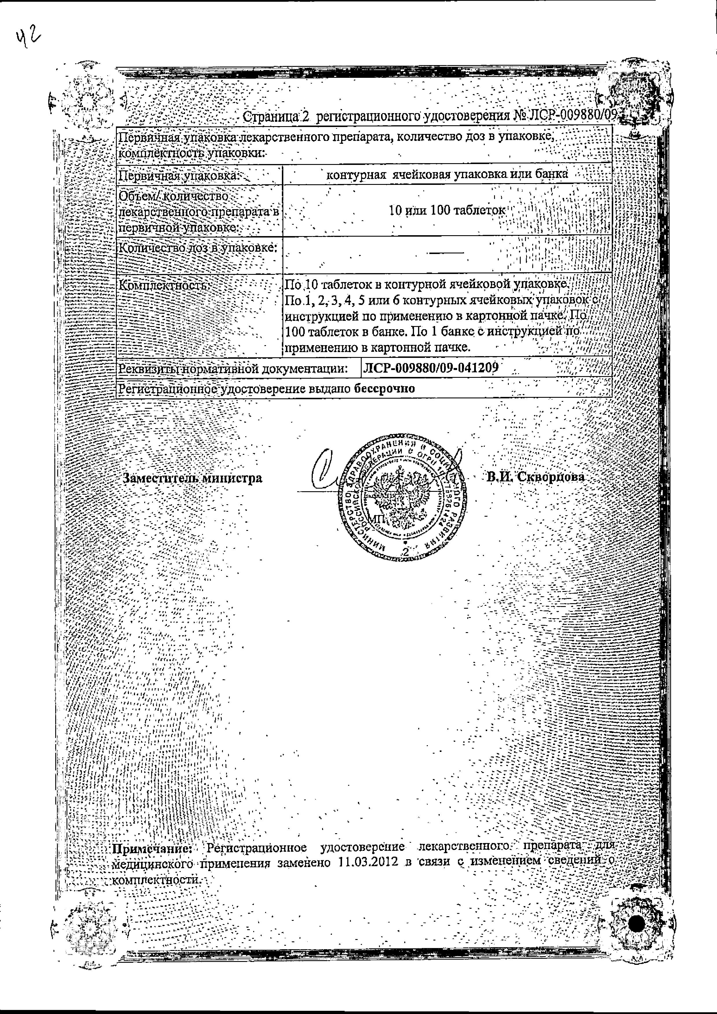 Триметазидин сертификат