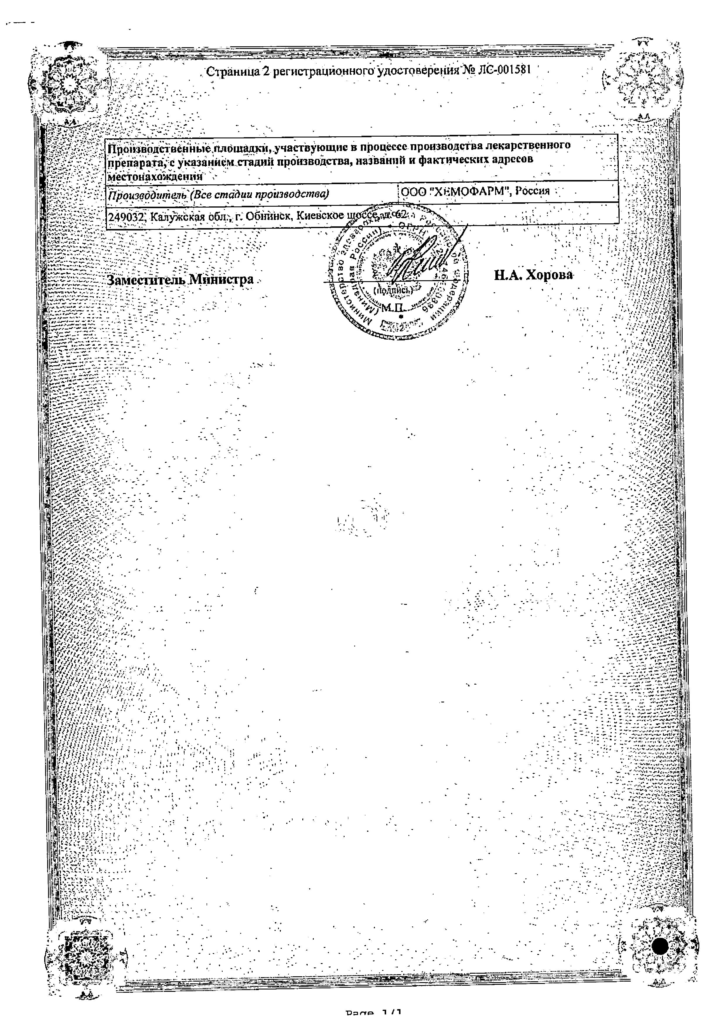 Бипрол сертификат