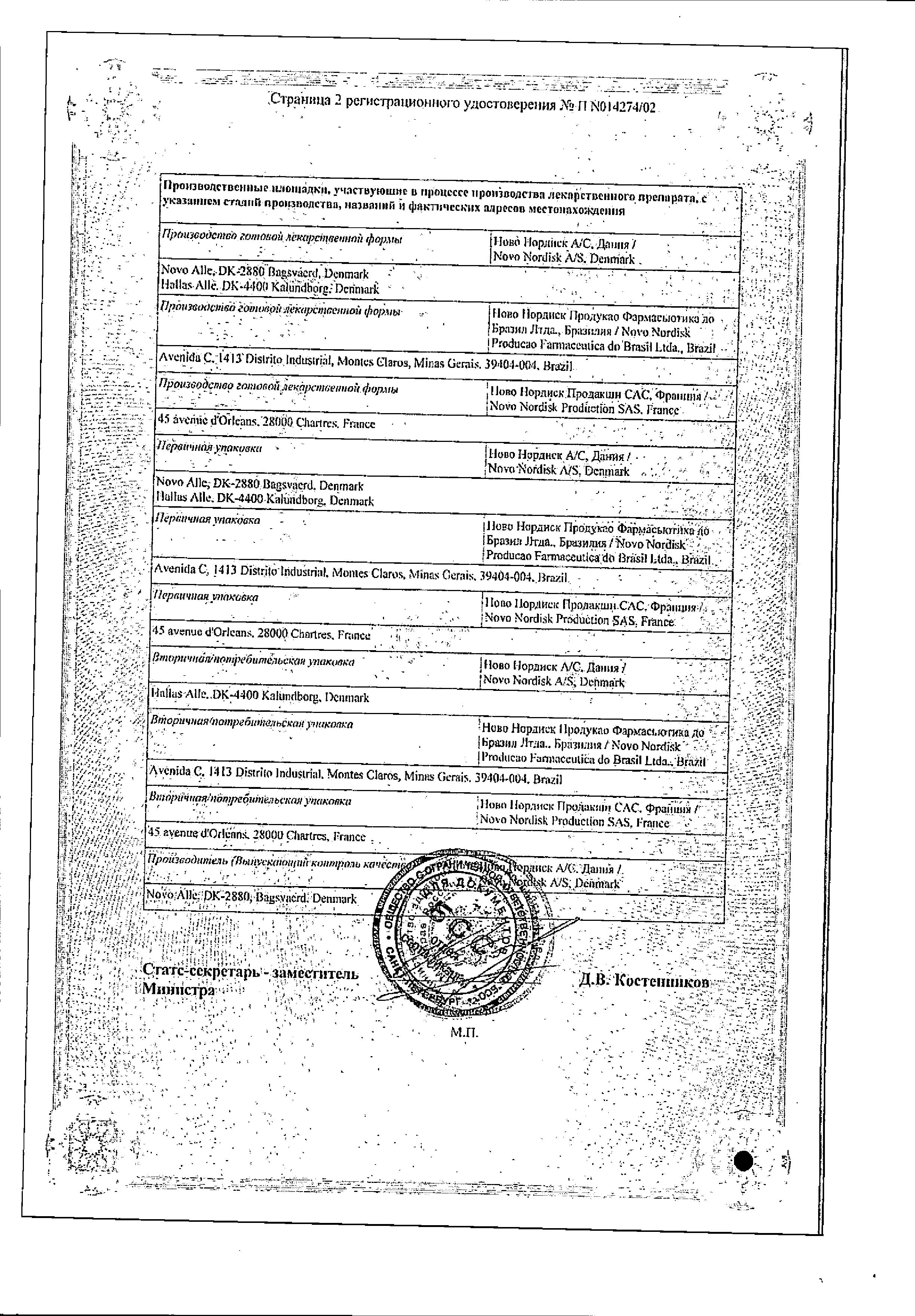 Актрапид HM Пенфилл сертификат