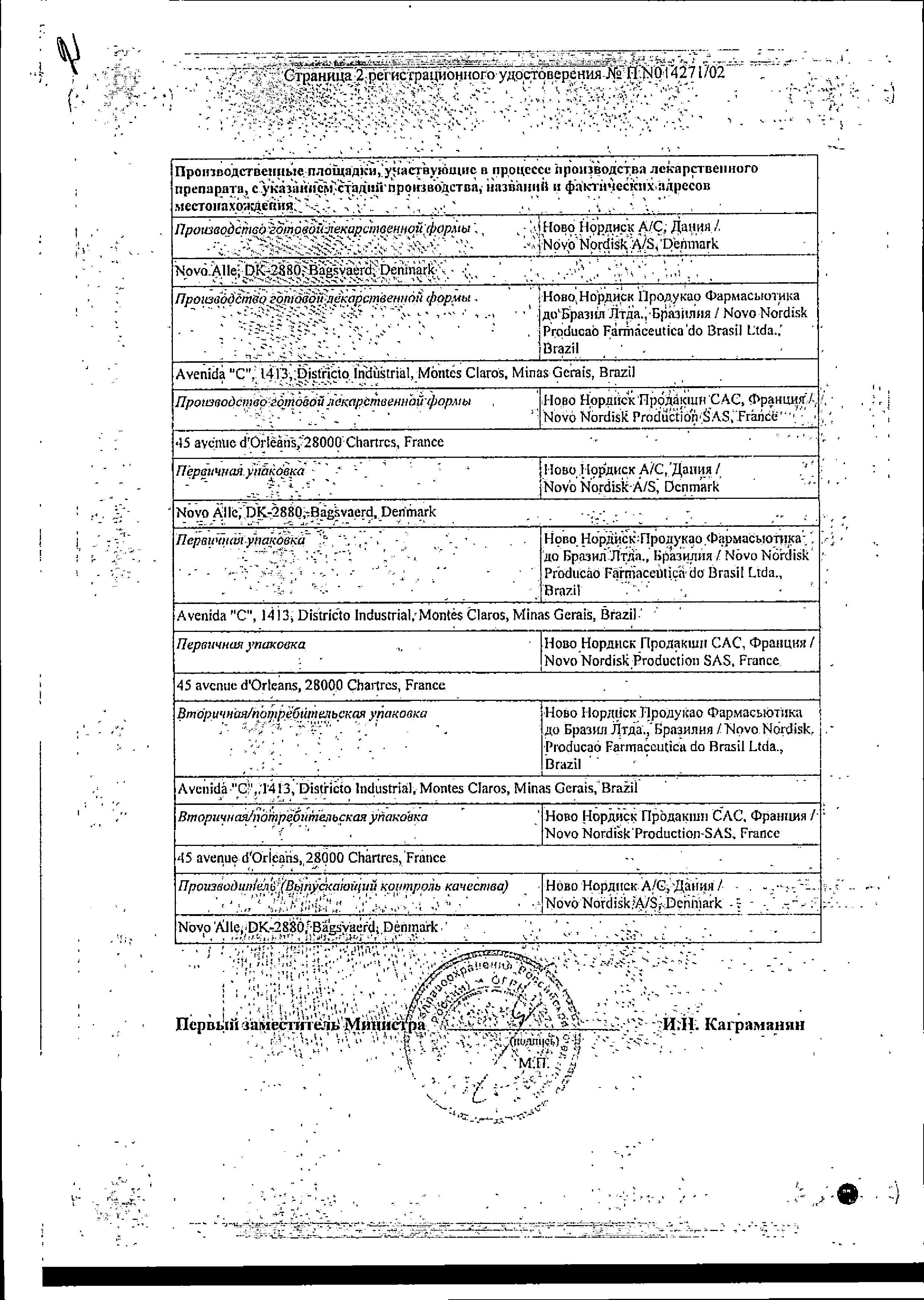 Протафан HM Пенфилл сертификат