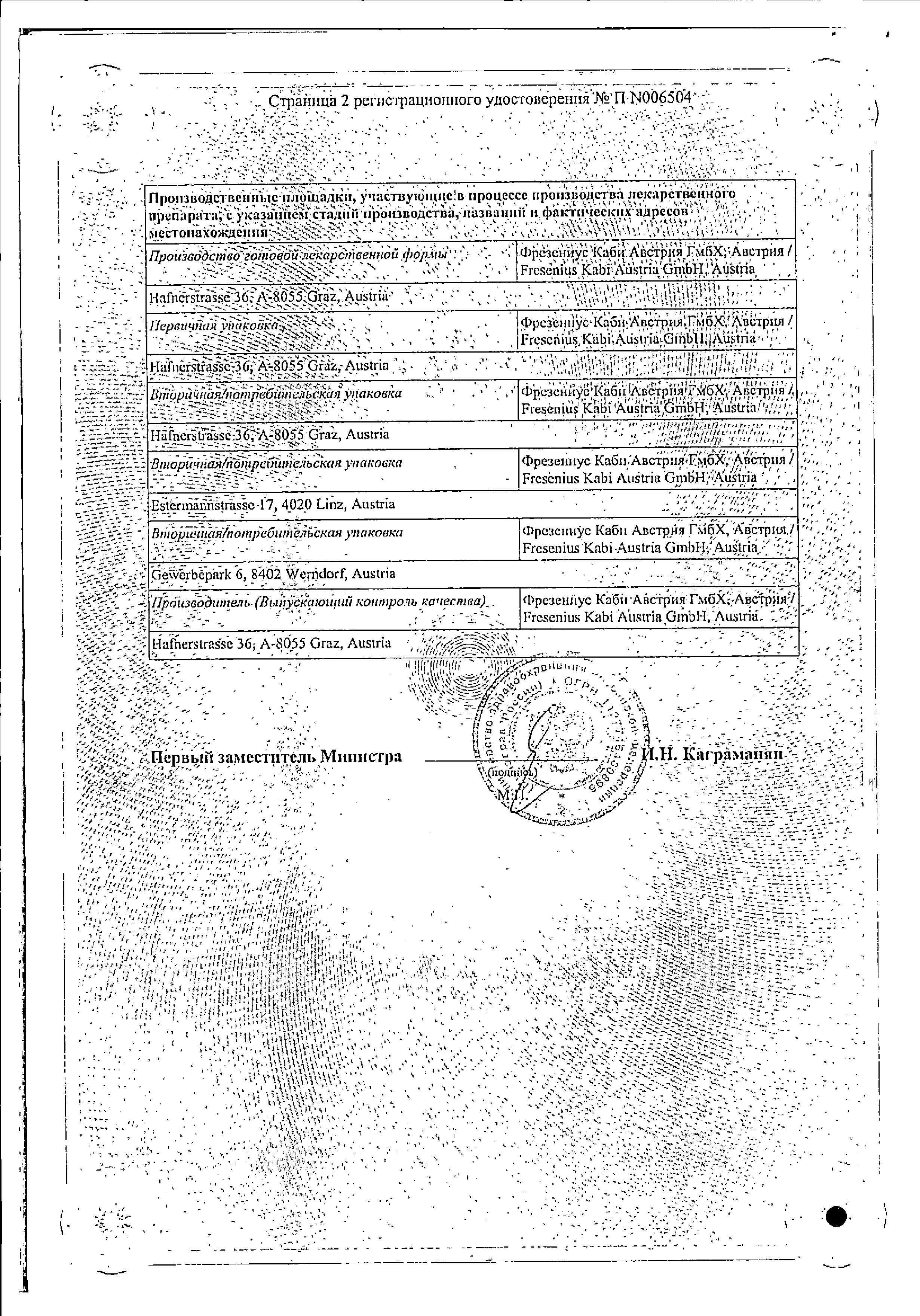 Интралипид сертификат