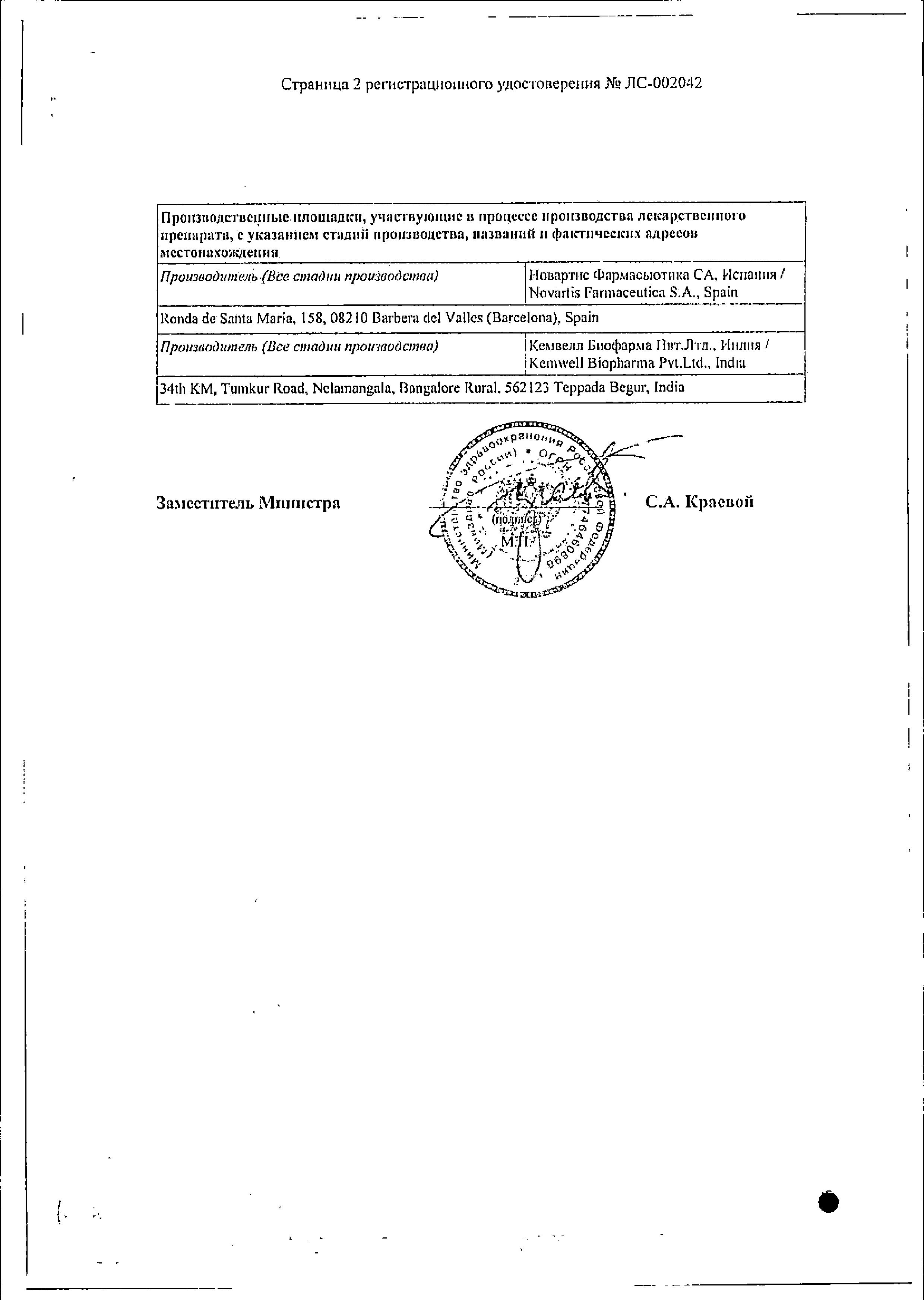 ТераФлю ЛАР сертификат