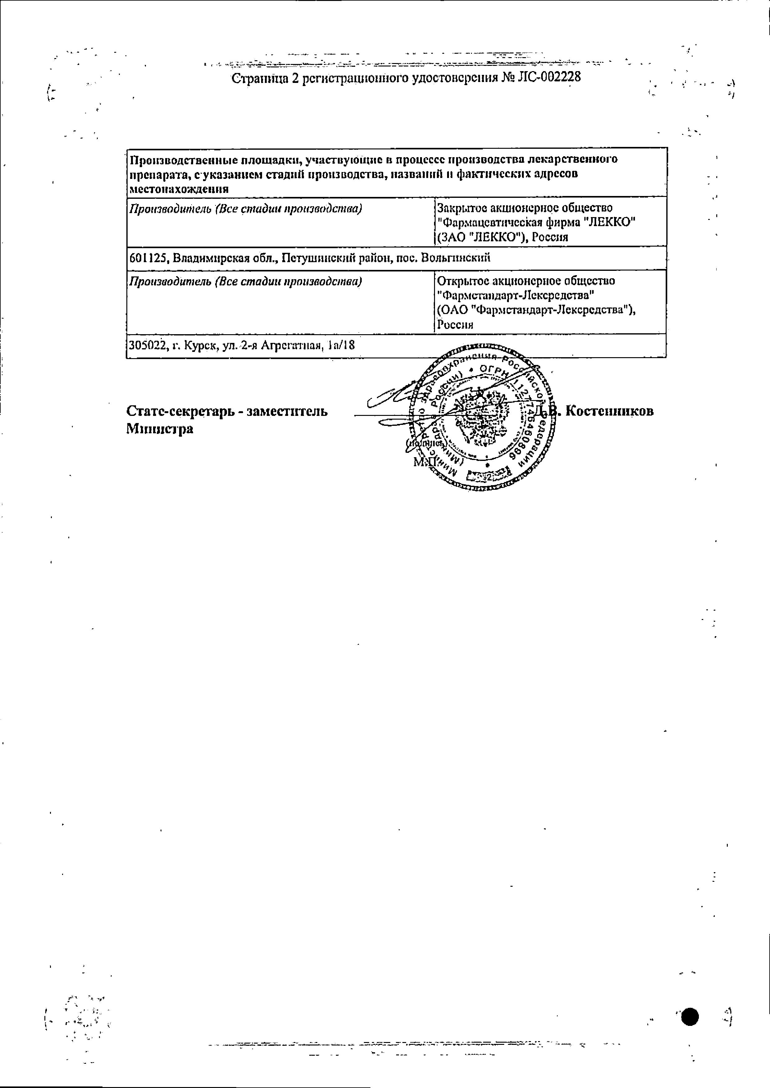 Тореал сертификат