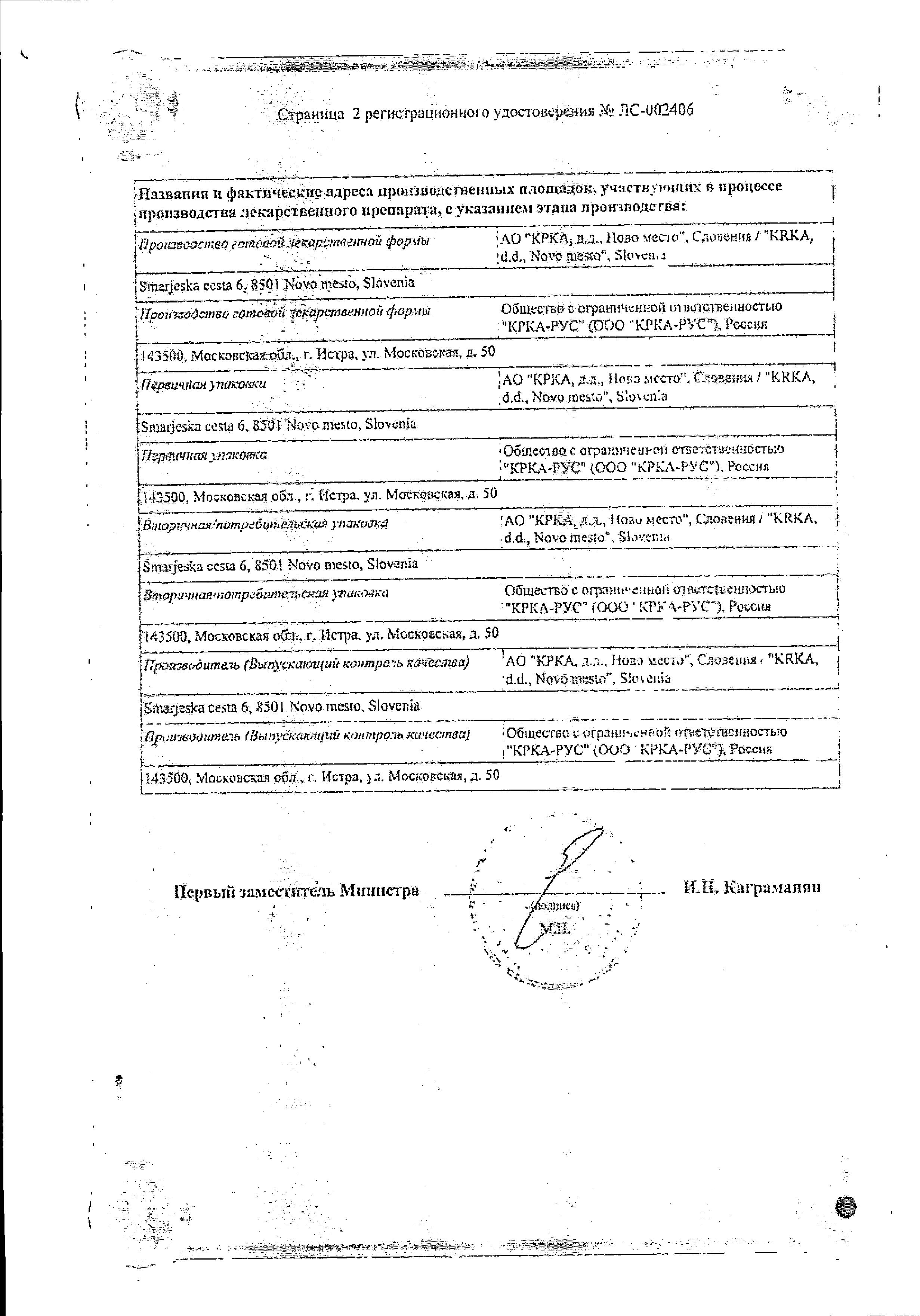 Торендо сертификат