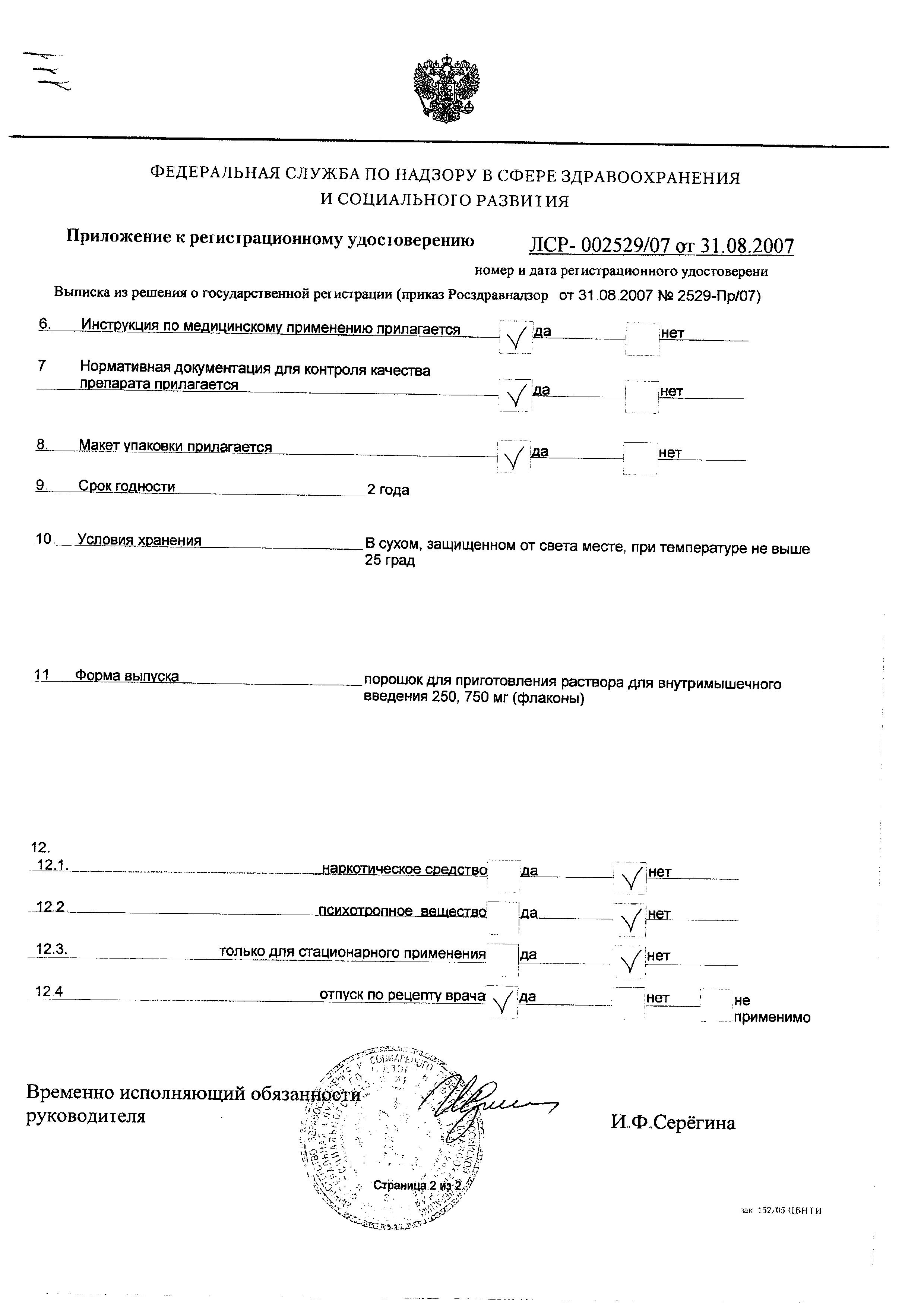Цефуроксим сертификат