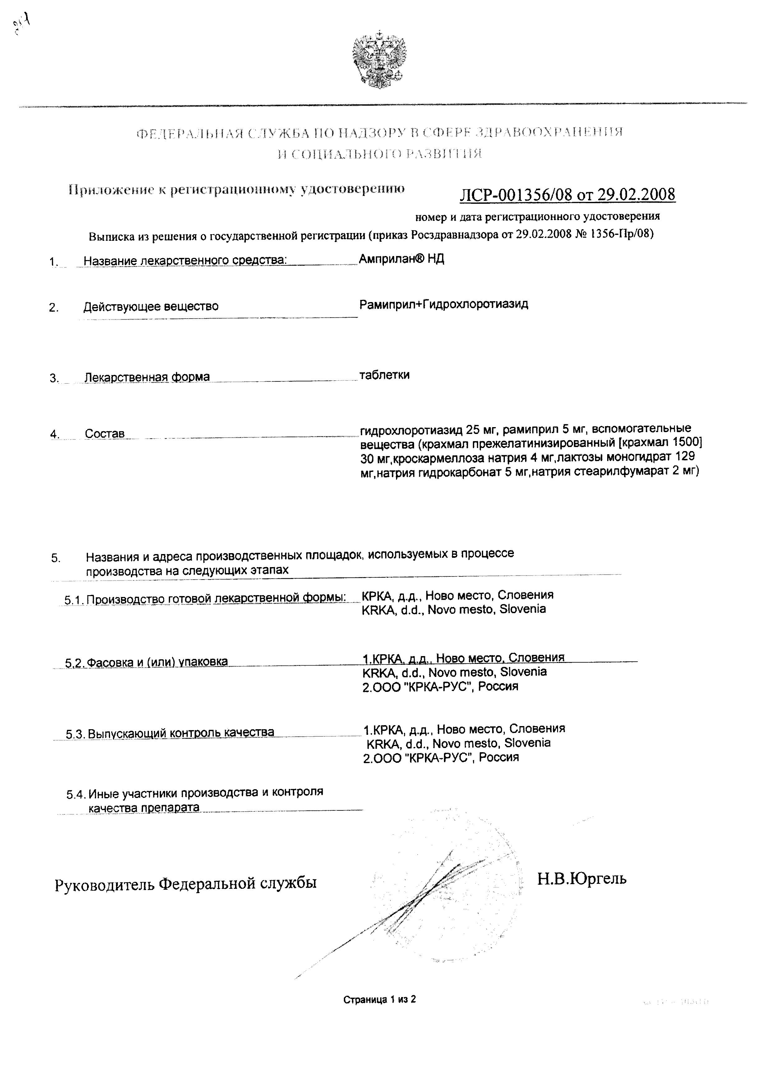 Амприлан НД сертификат