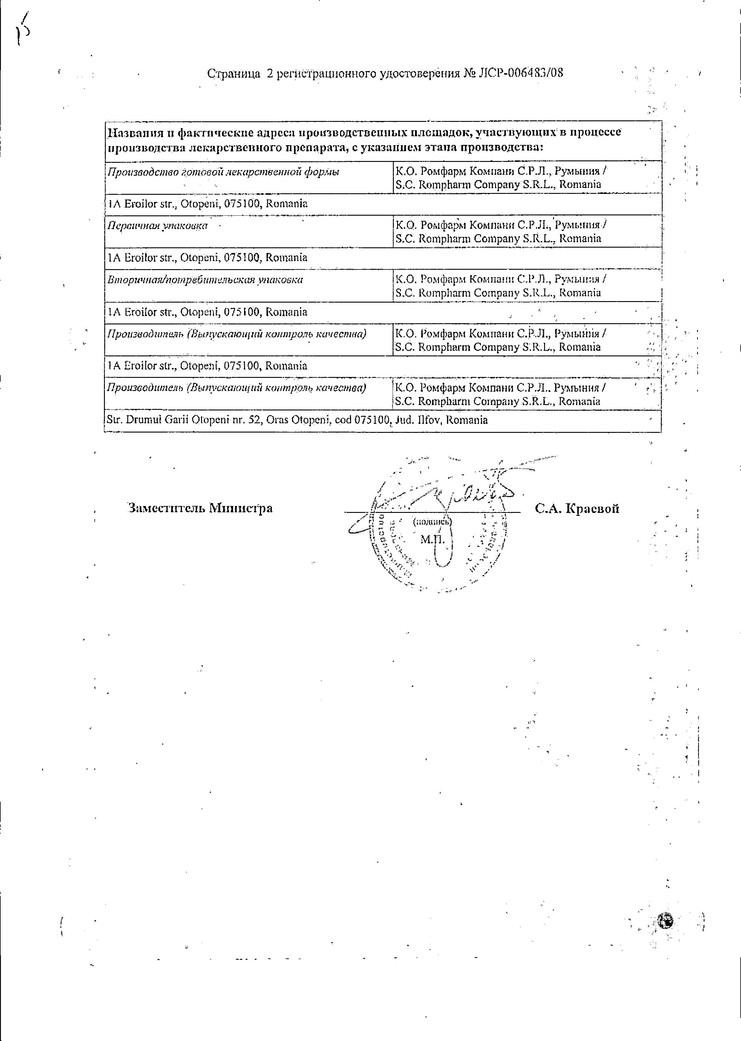 Дорзопт сертификат