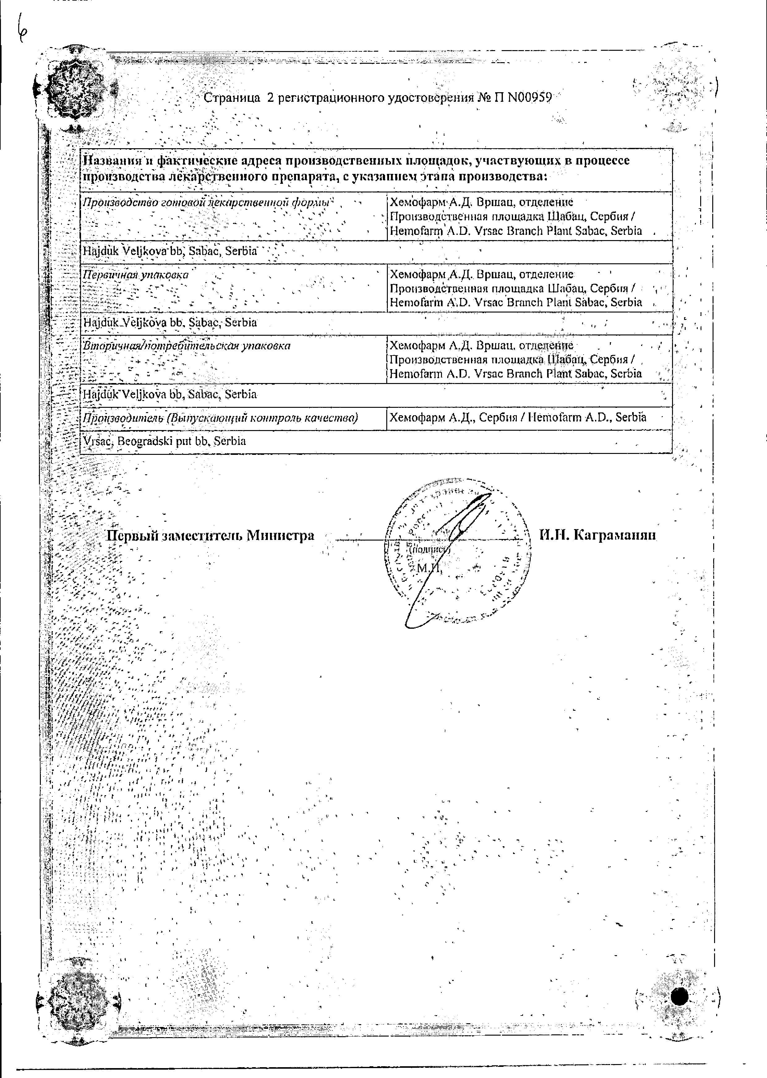 Омнитус сертификат