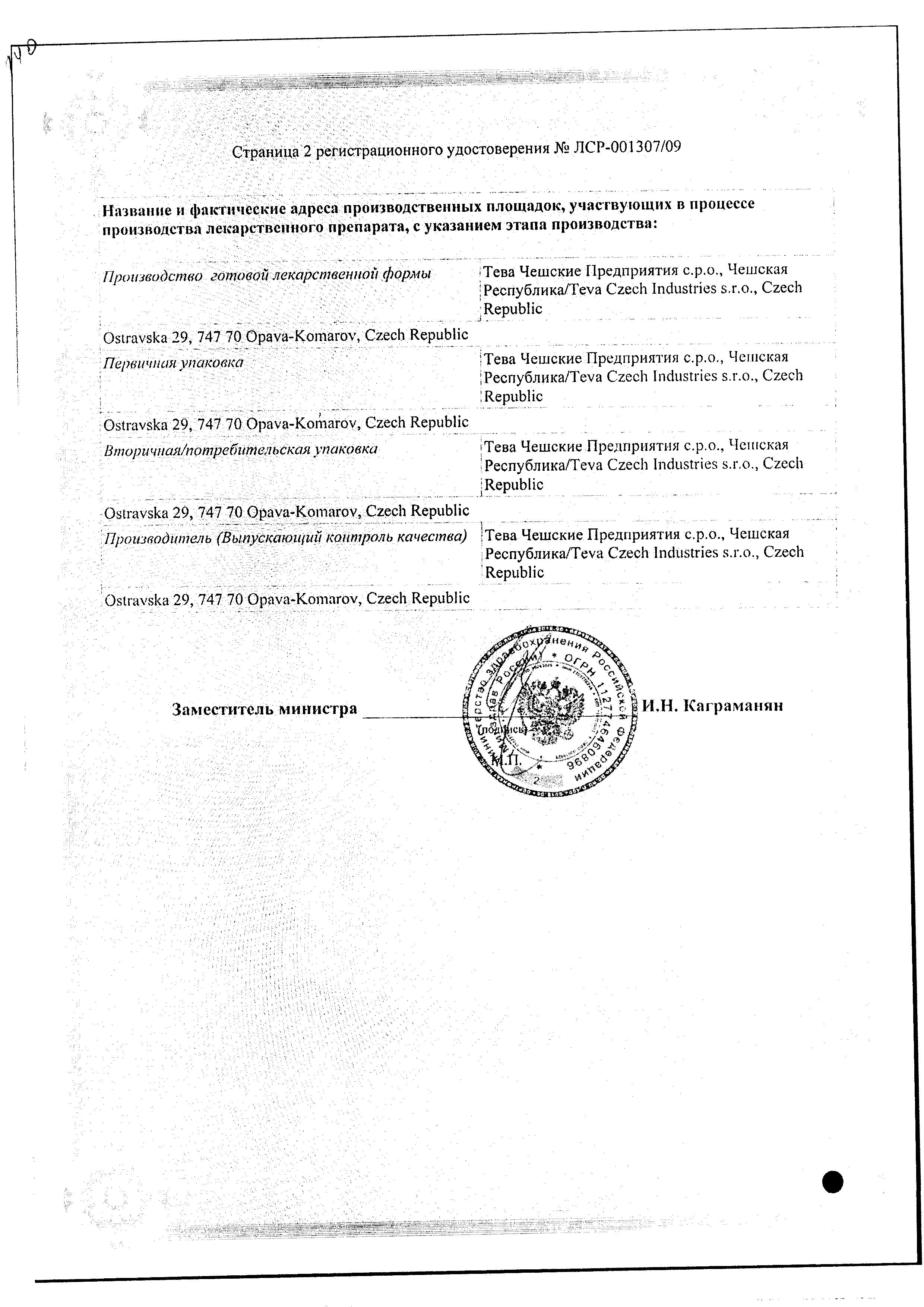 Агалатес сертификат