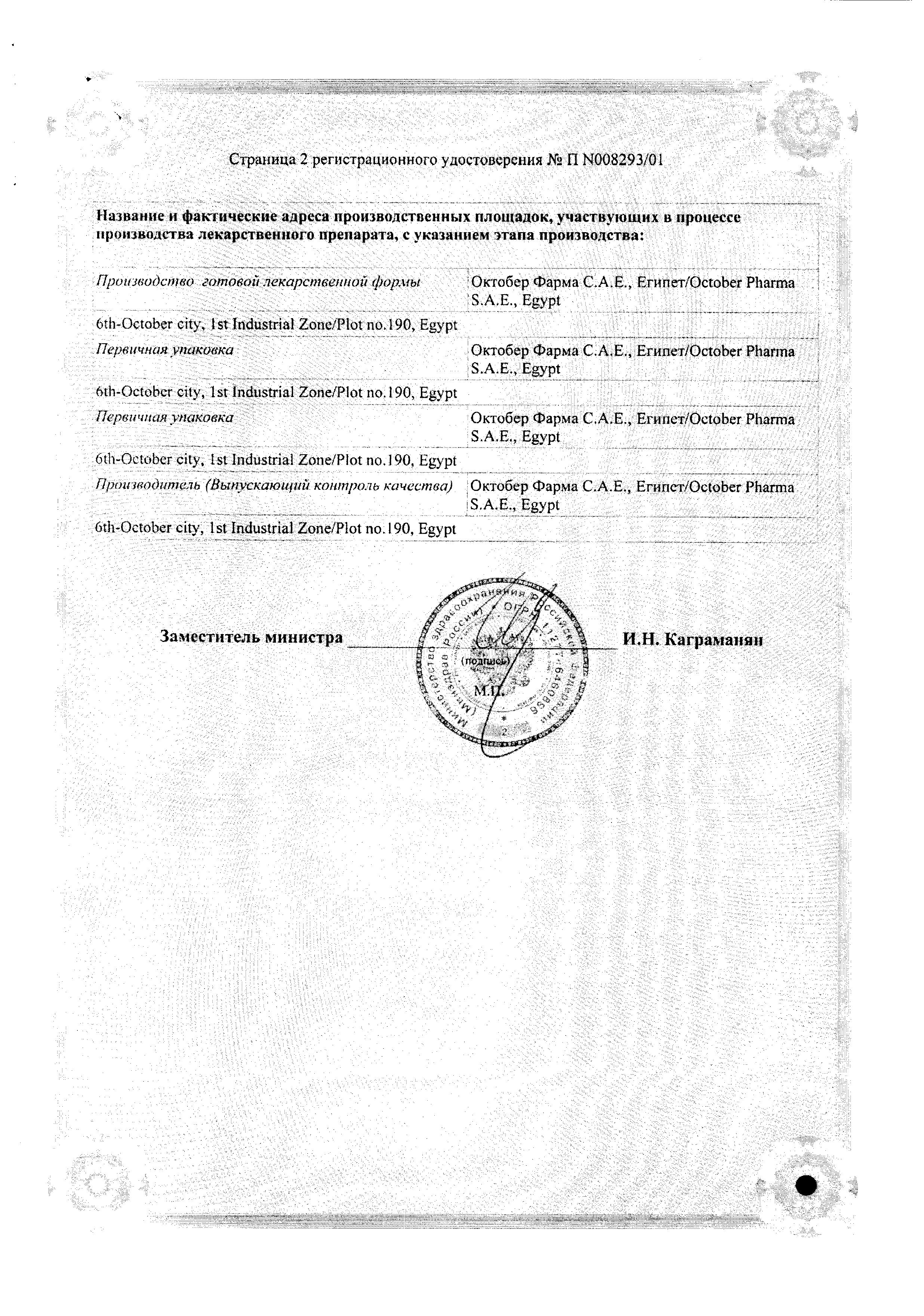 Ларипронт сертификат