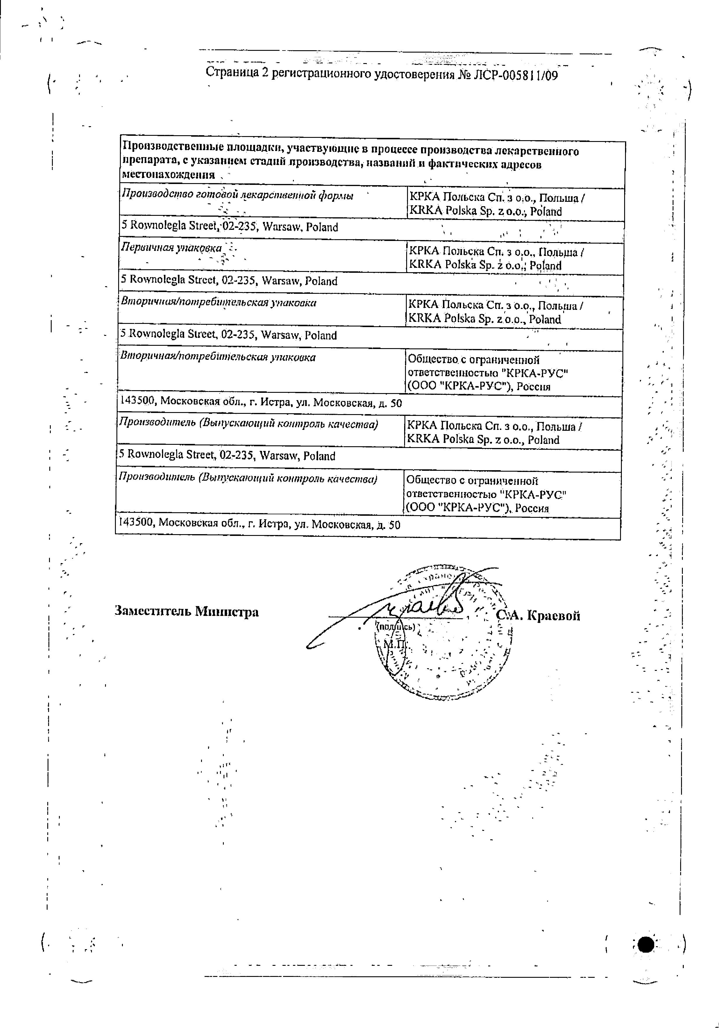 Заласта сертификат