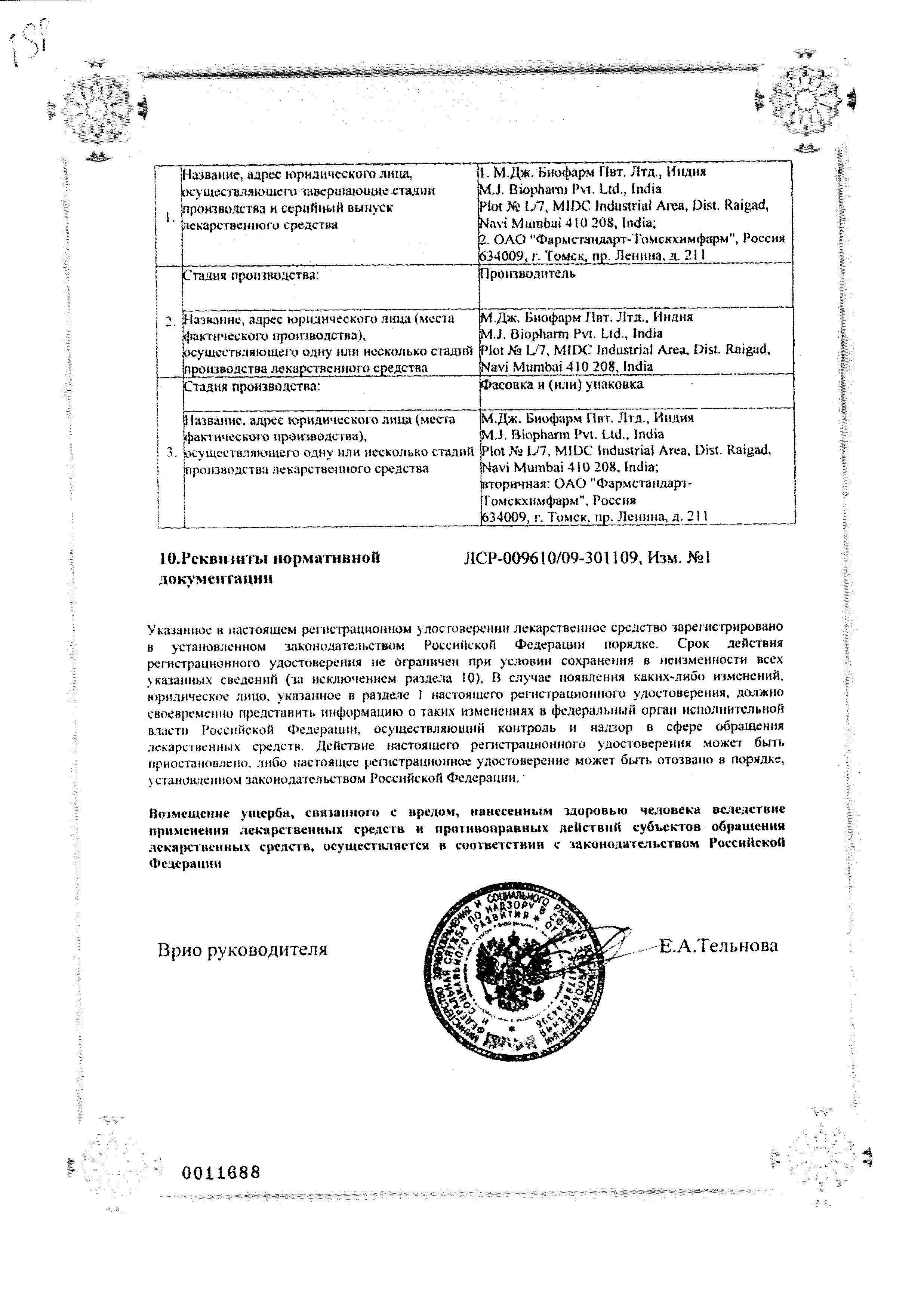 Глюконорм сертификат