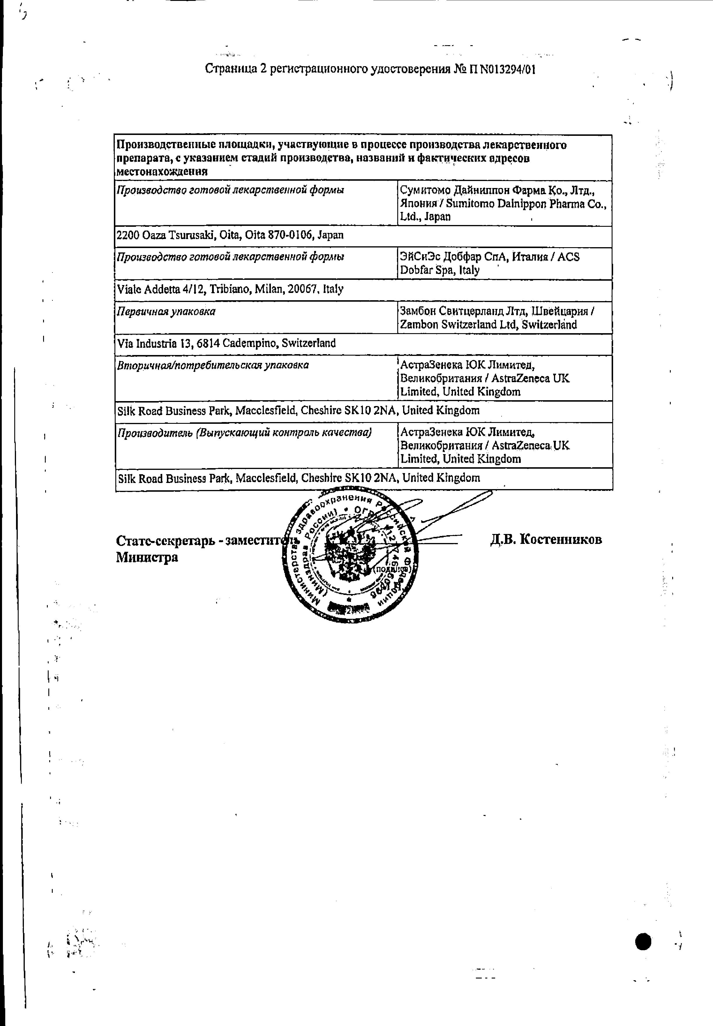 Меронем сертификат