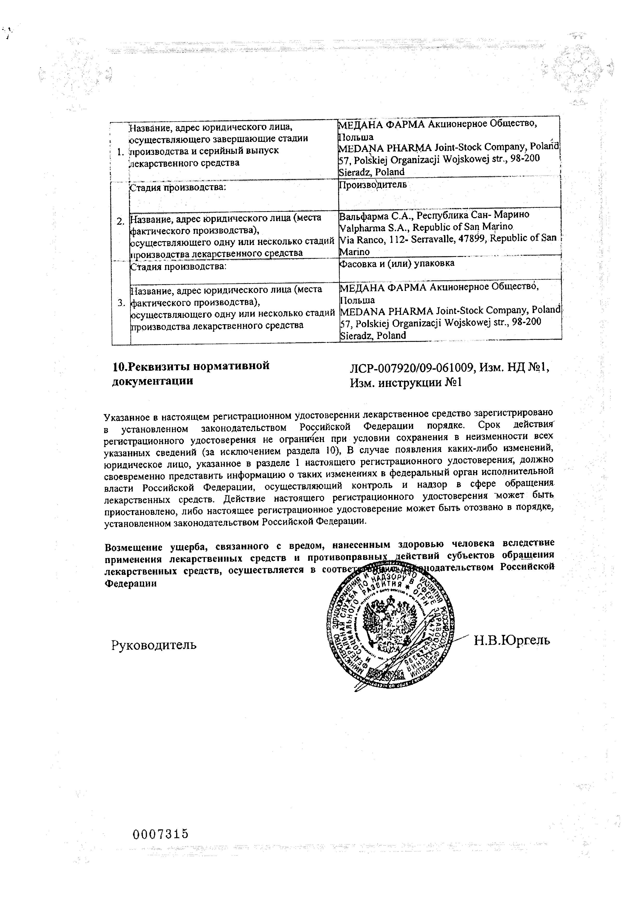 Быструмкапс сертификат