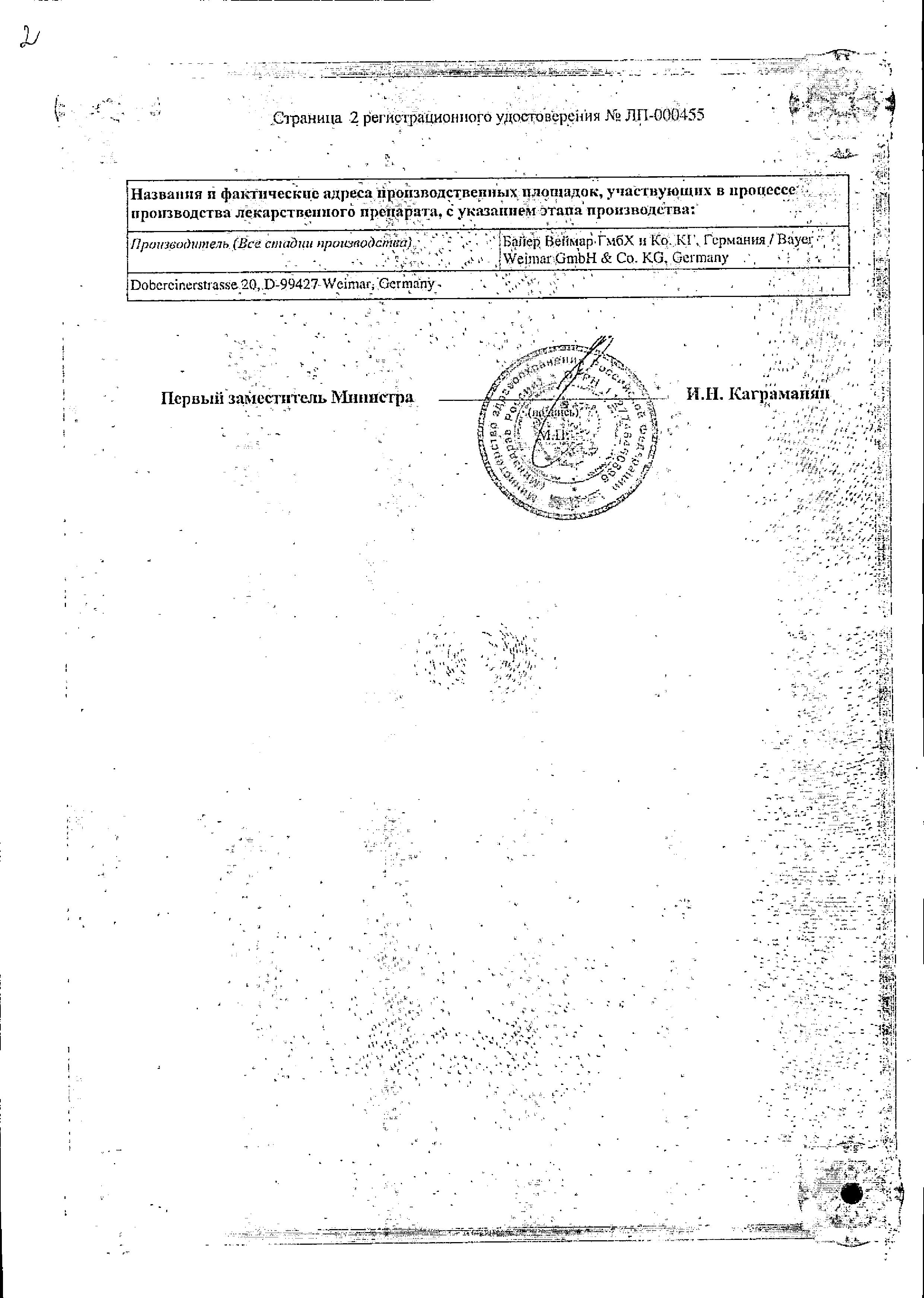 Визанна сертификат