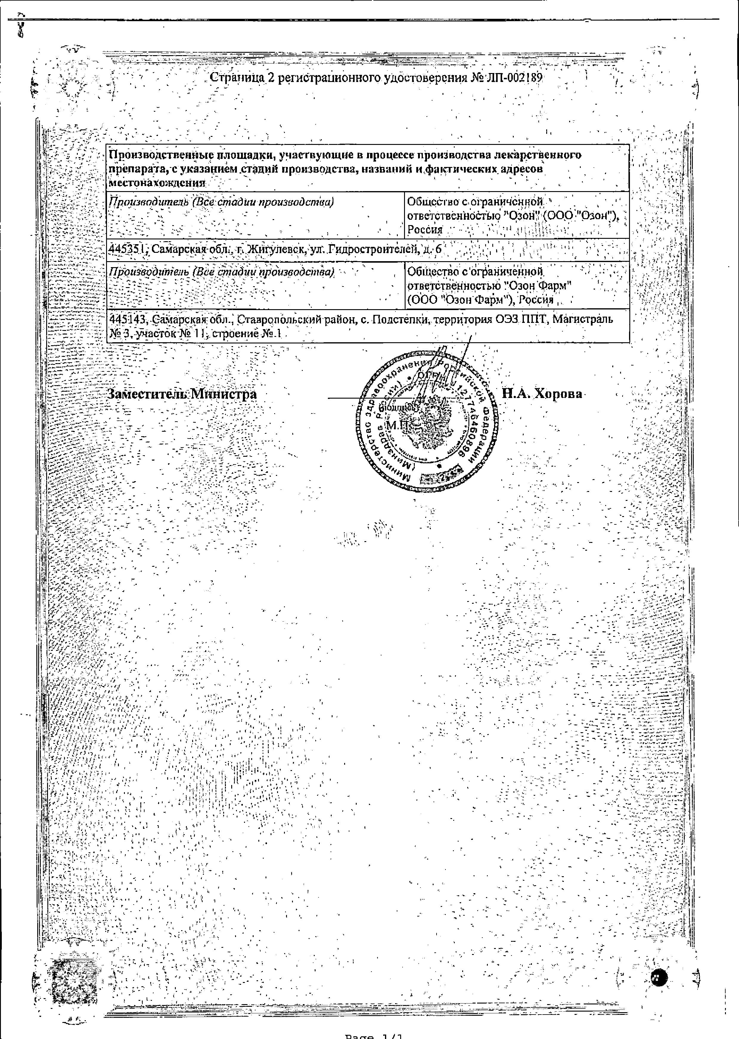 Метформин сертификат
