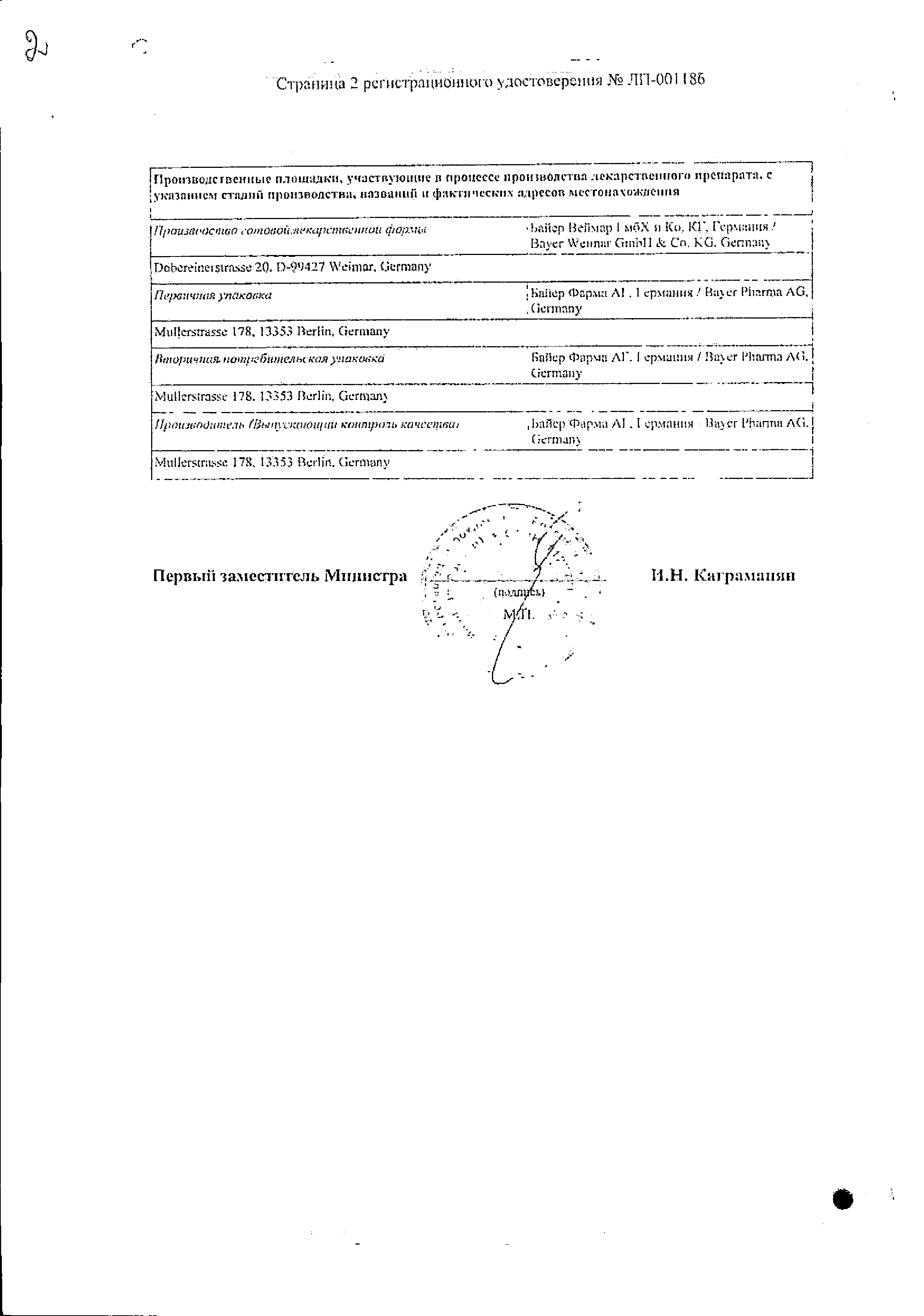 Ярина Плюс сертификат
