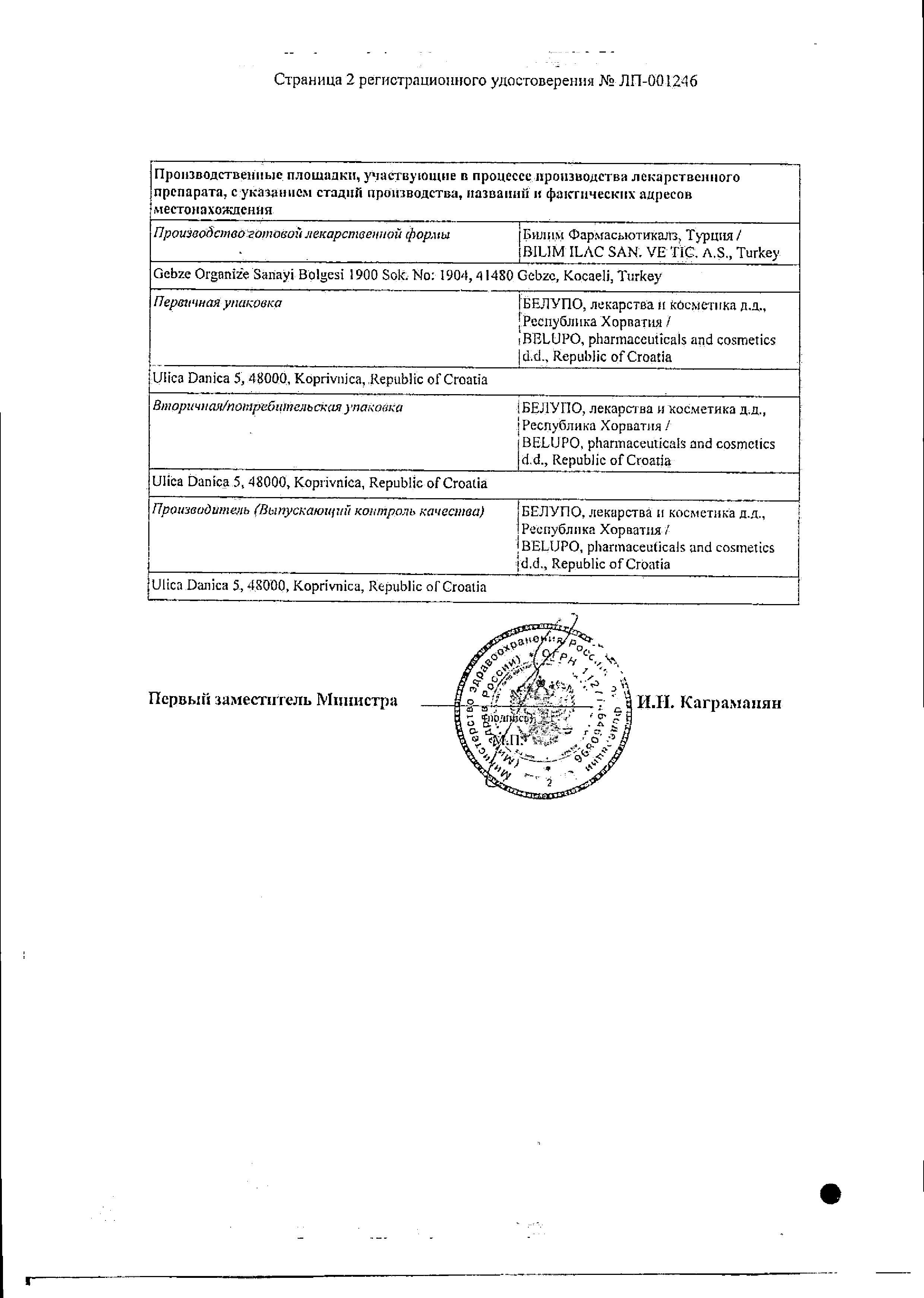 Клопидекс сертификат