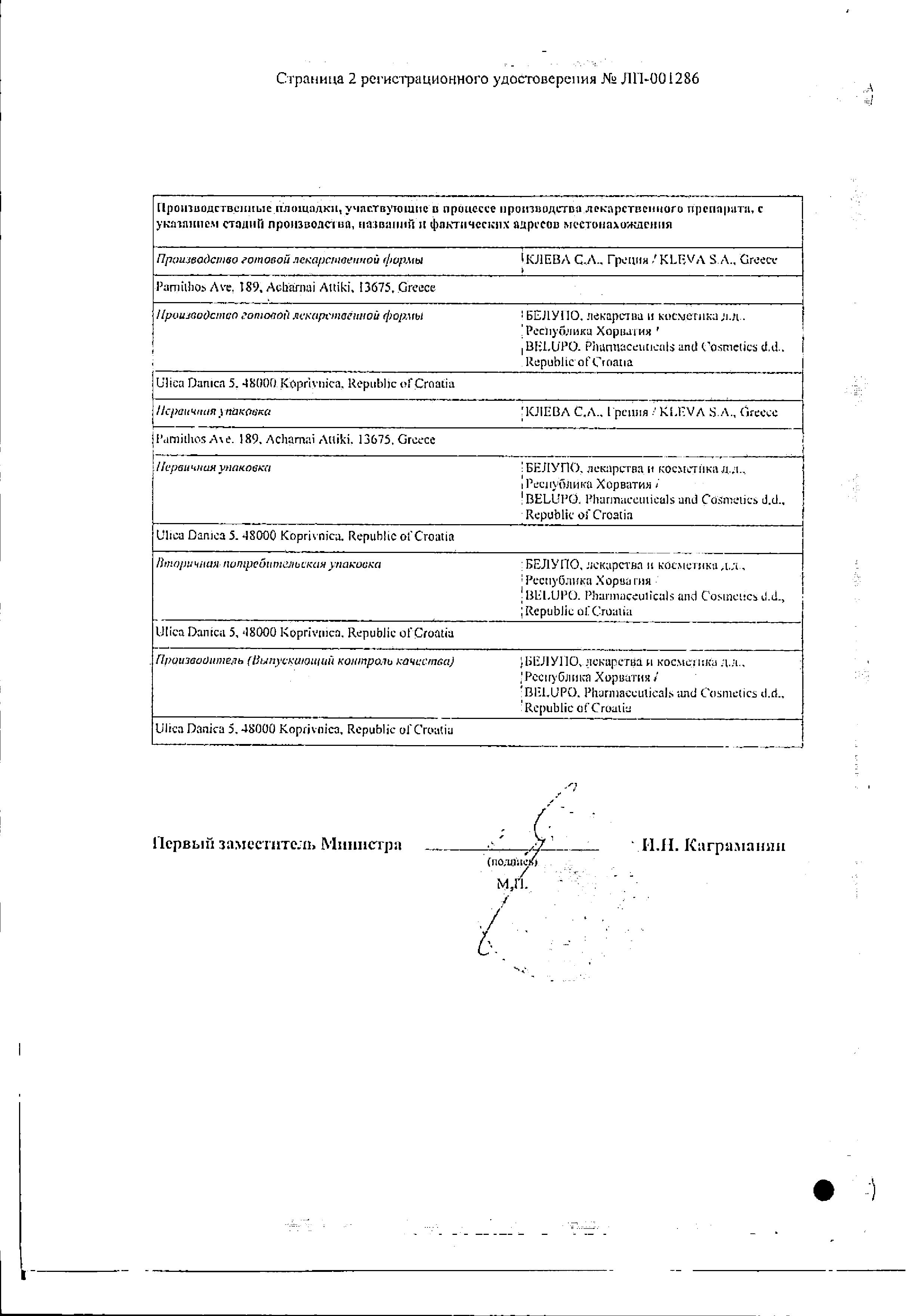 Бондерм сертификат