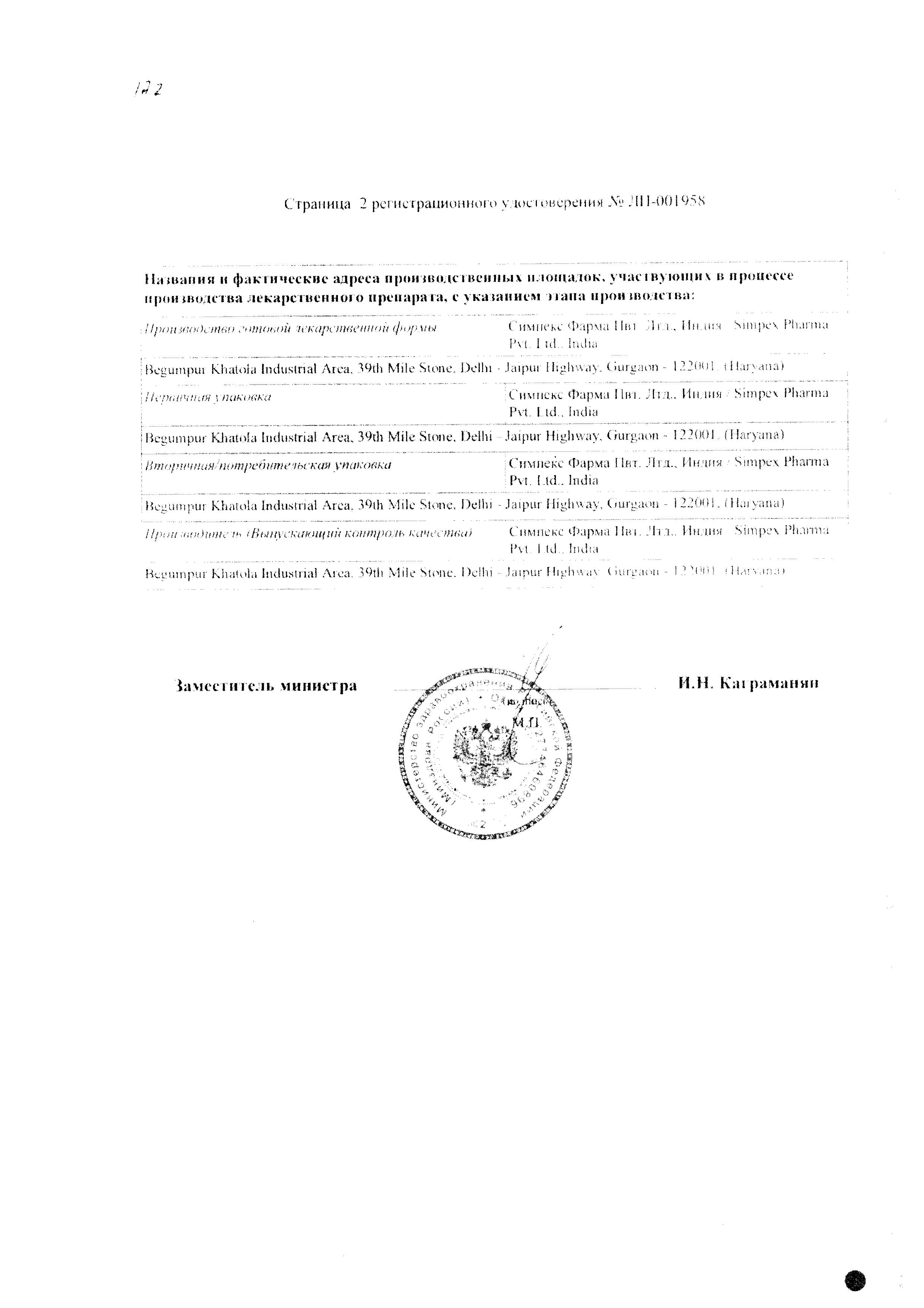 Кетокам сертификат