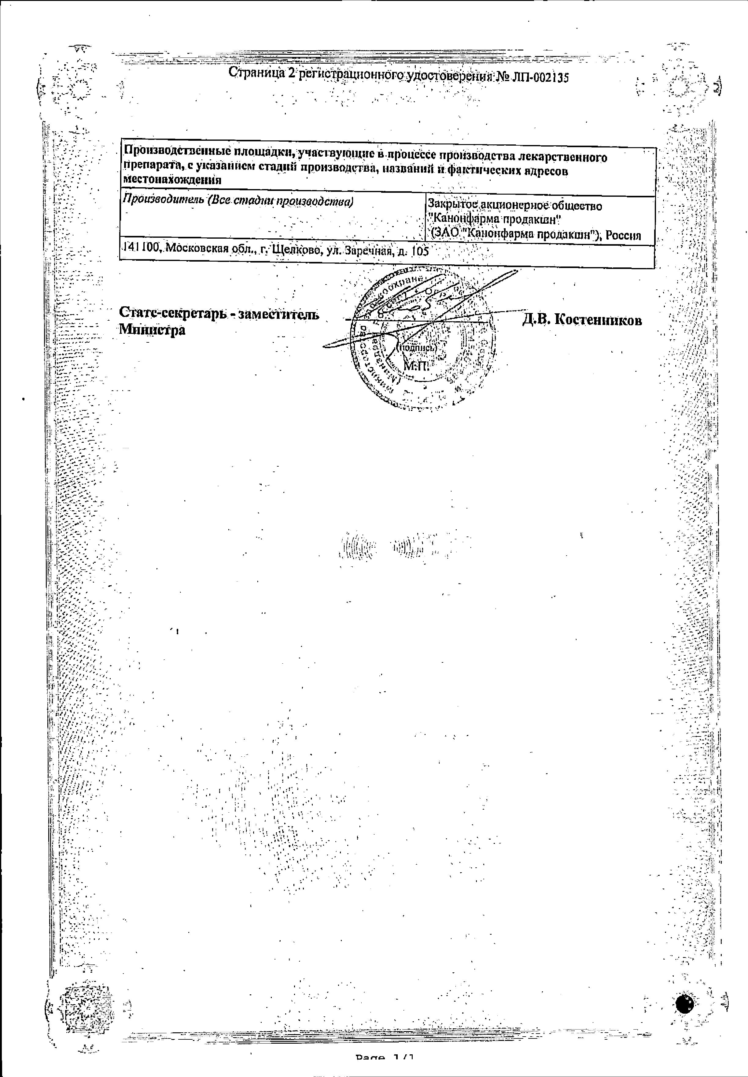 Леветирацетам Канон сертификат