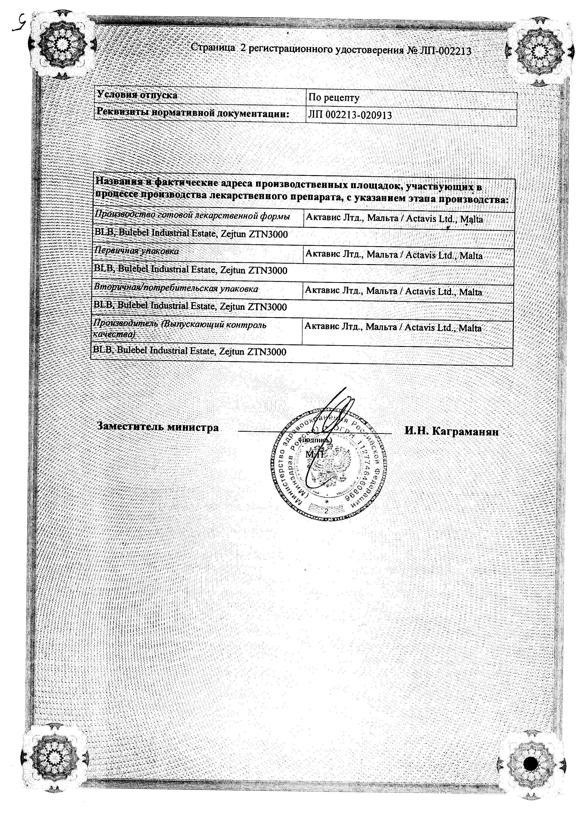 Розарт сертификат