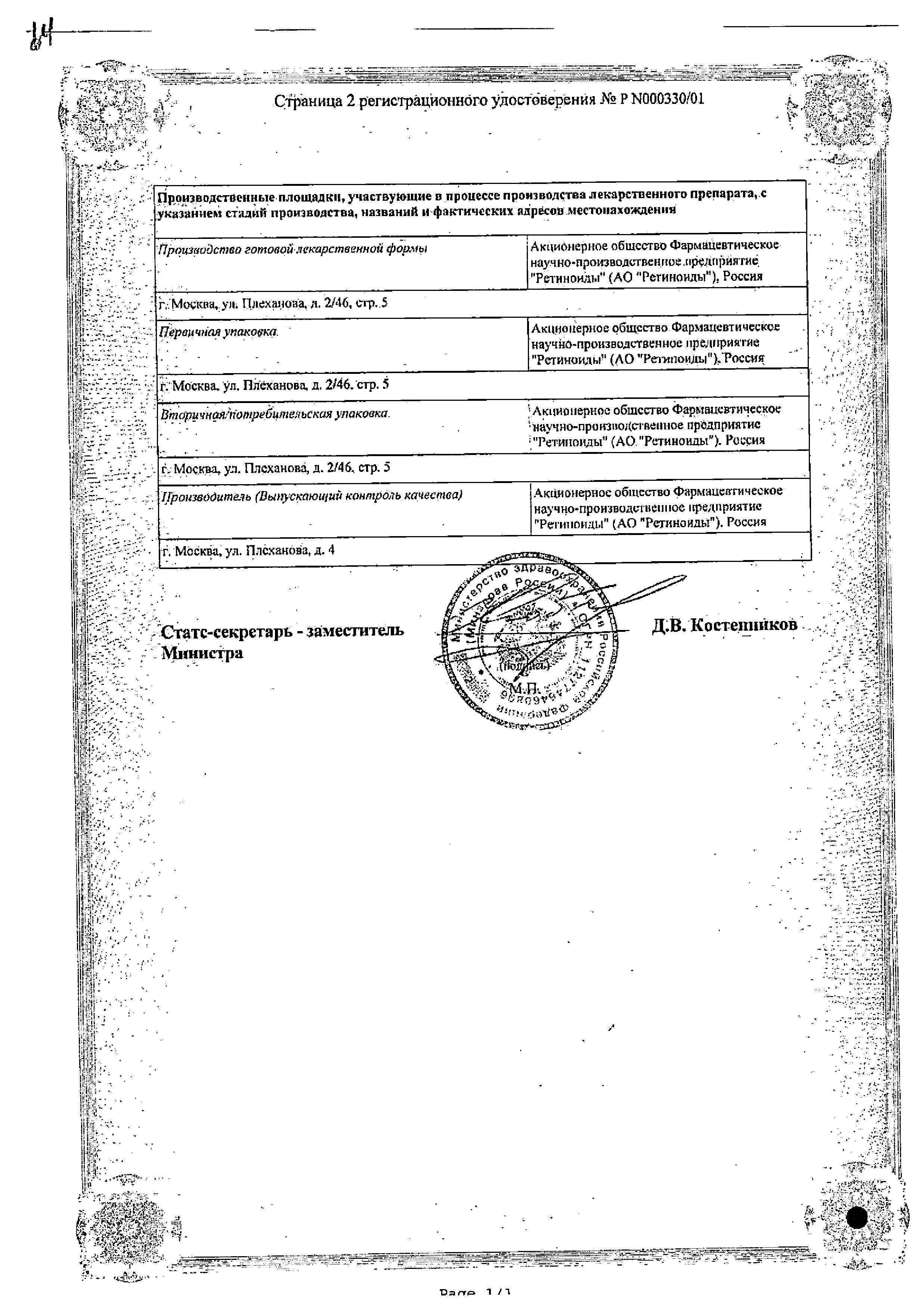 Радевит Актив сертификат