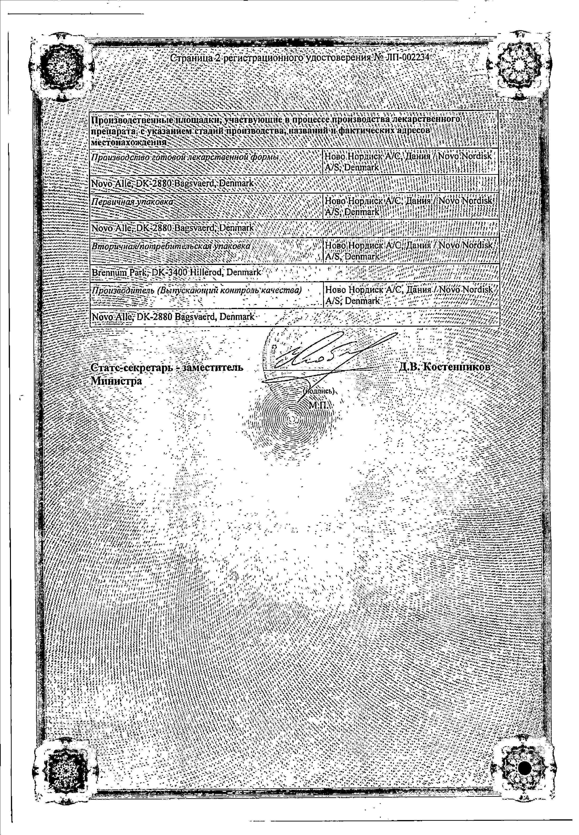 Тресиба ФлексТач сертификат