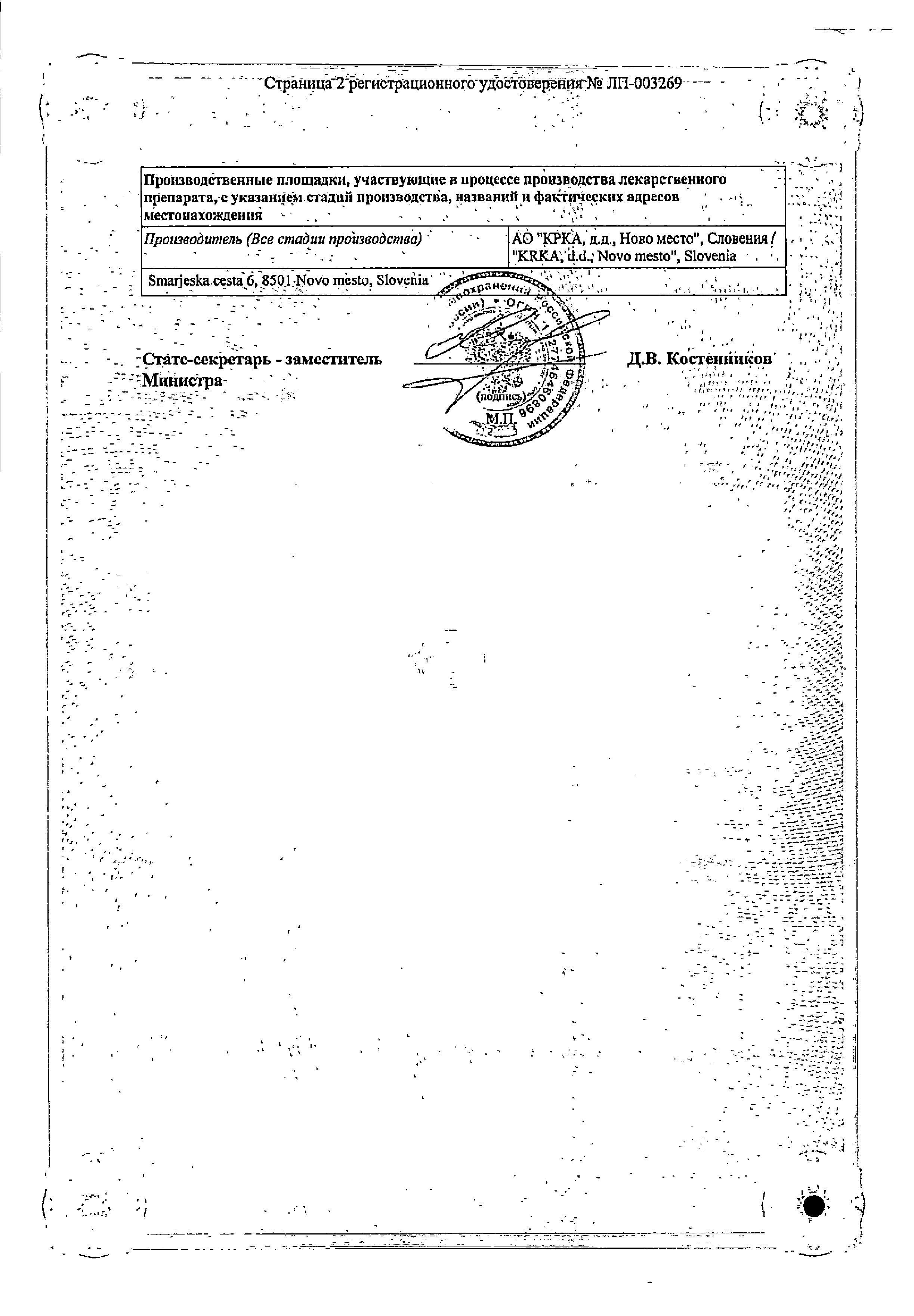 Телмиста сертификат