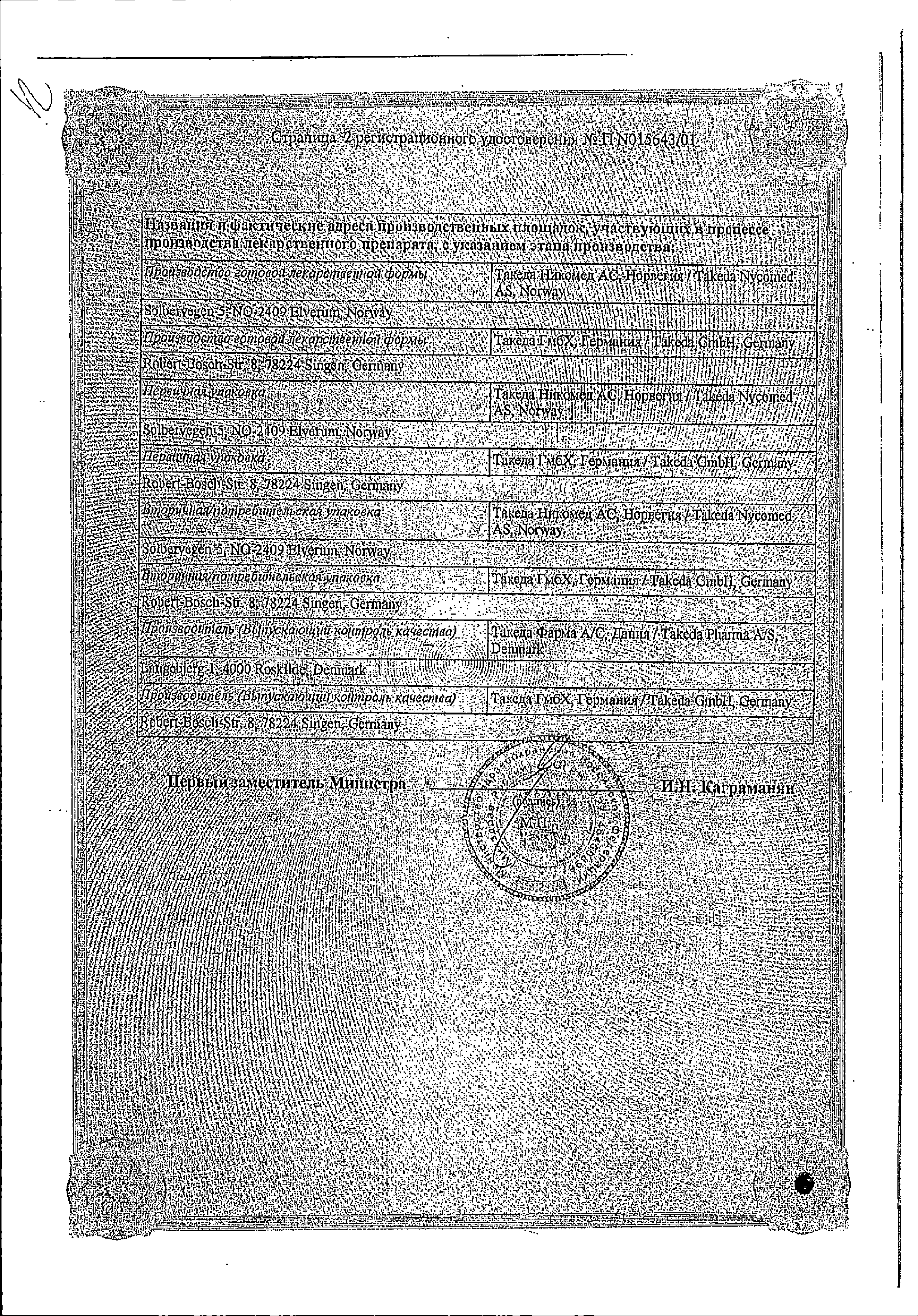 Ксимелин сертификат