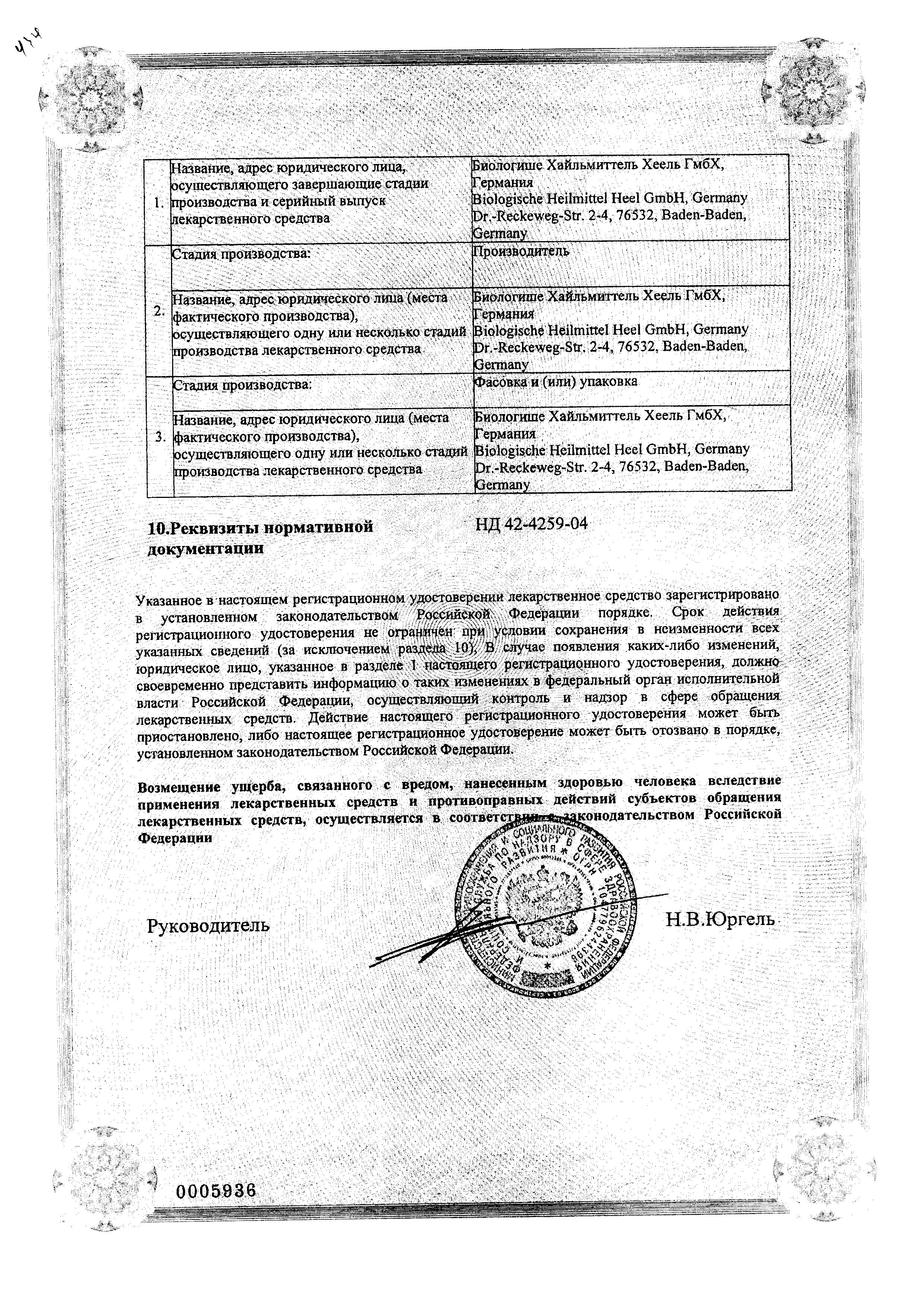 Эуфорбиум Композитум Назентропфен С сертификат