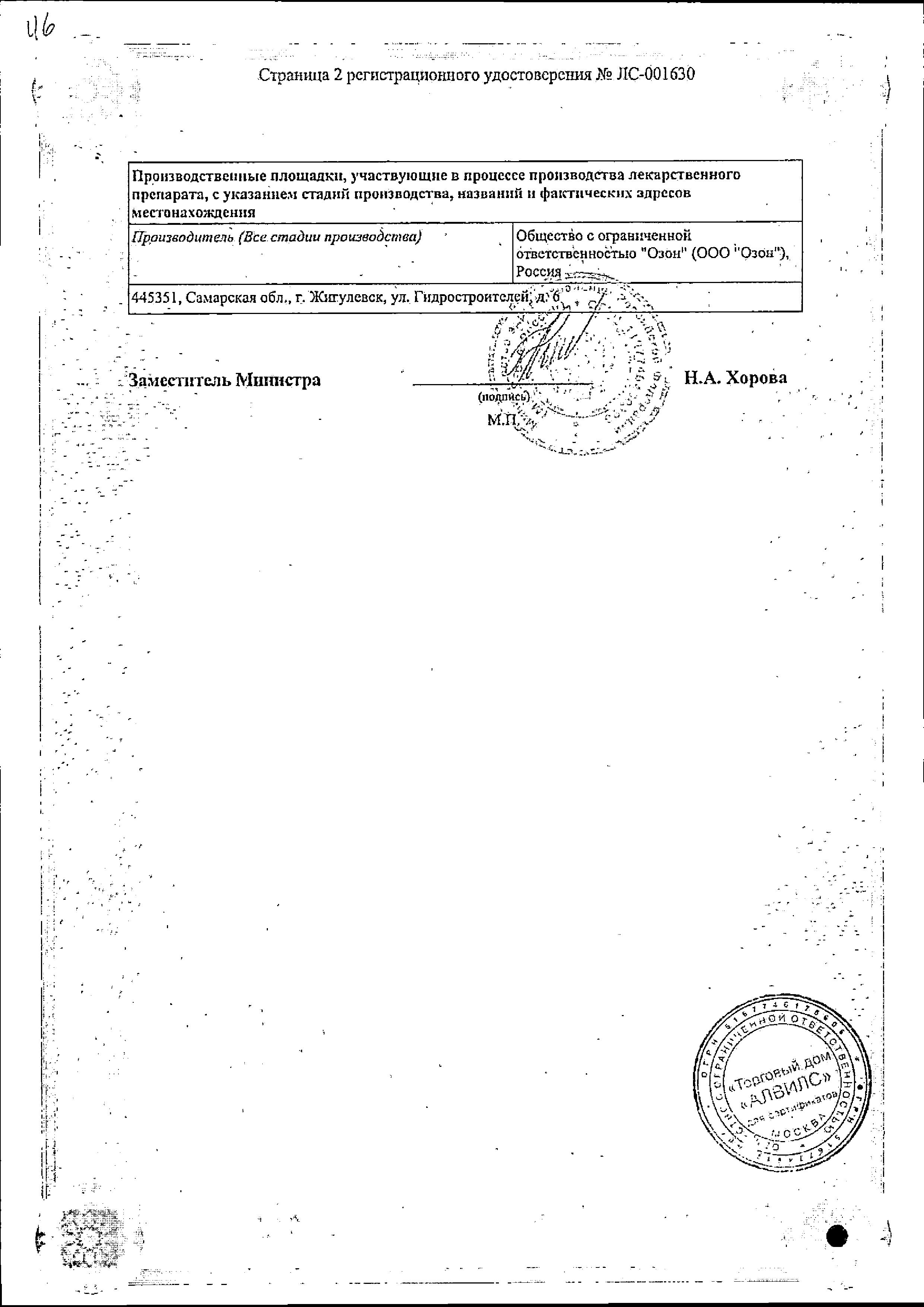 Метионин сертификат