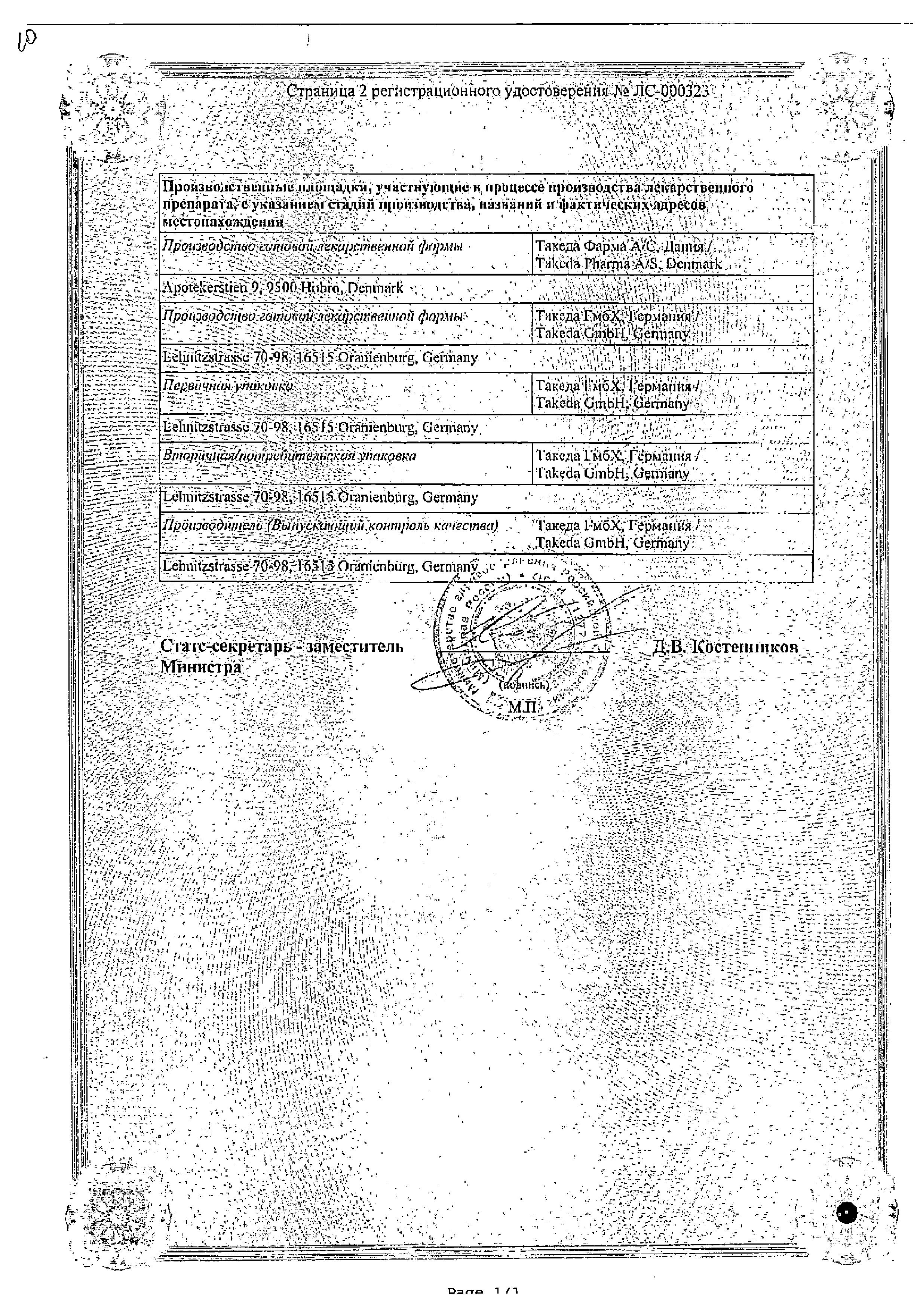 Ксефокам рапид сертификат