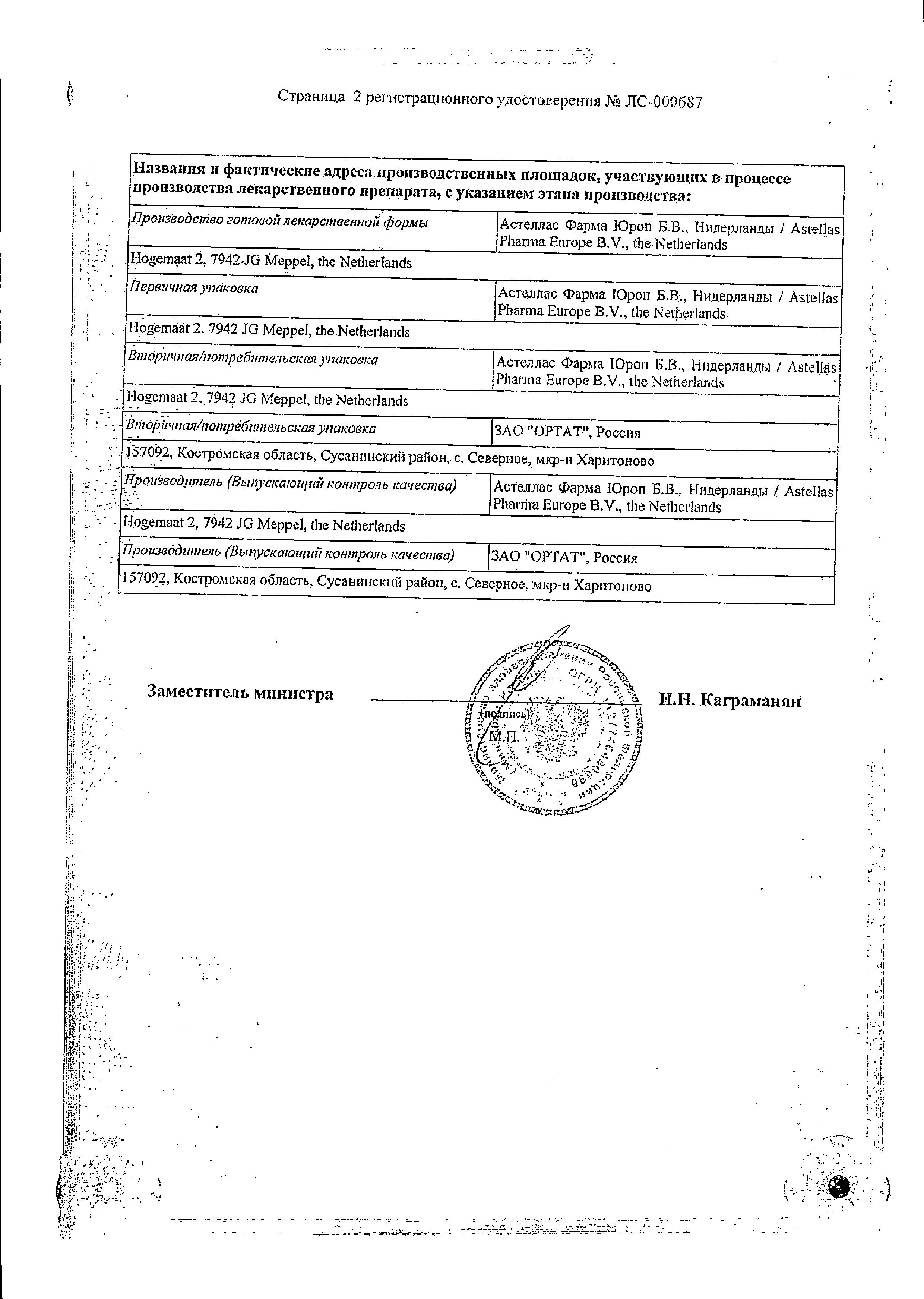 Везикар сертификат