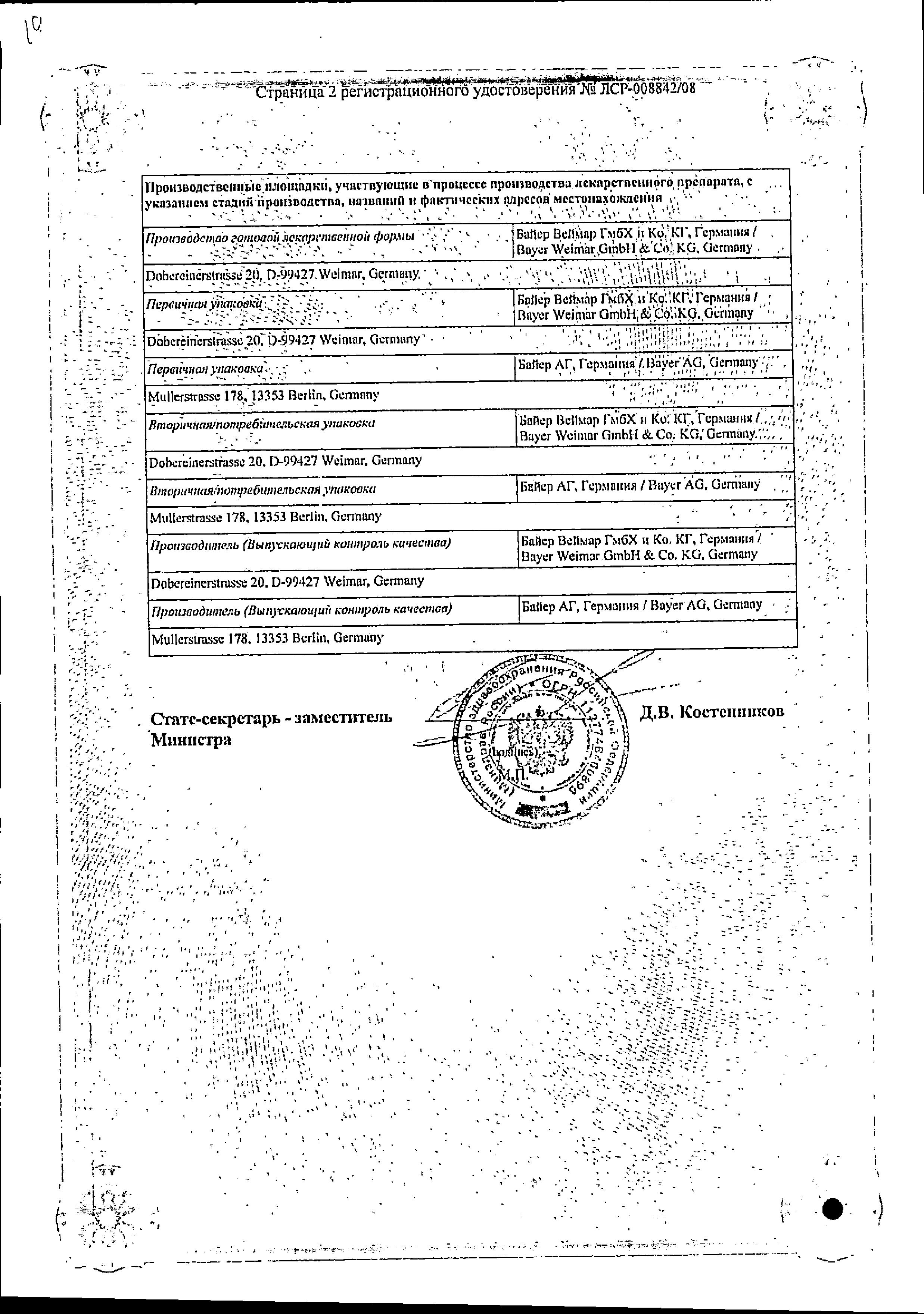 Джес сертификат
