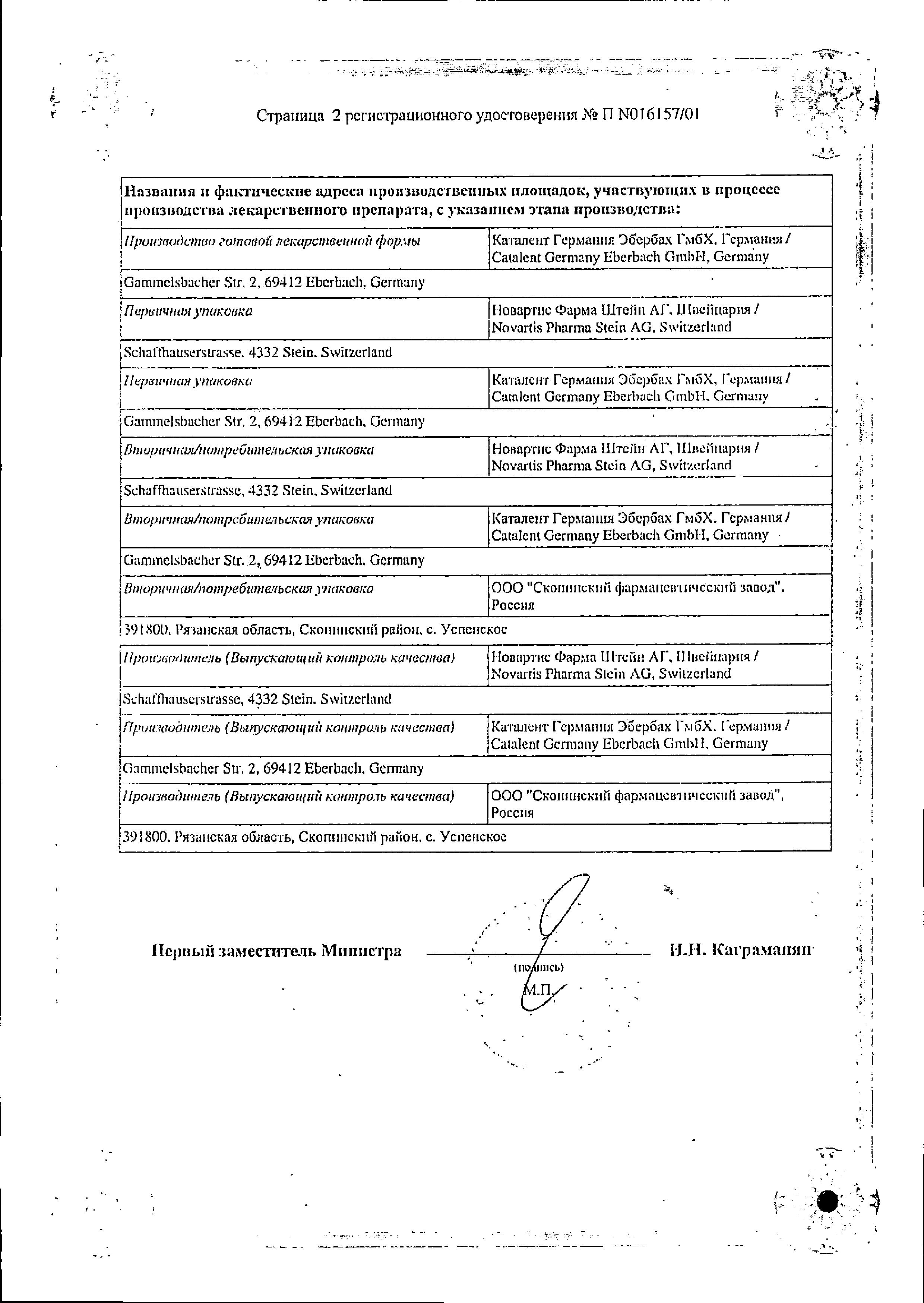 Сандиммун Неорал сертификат